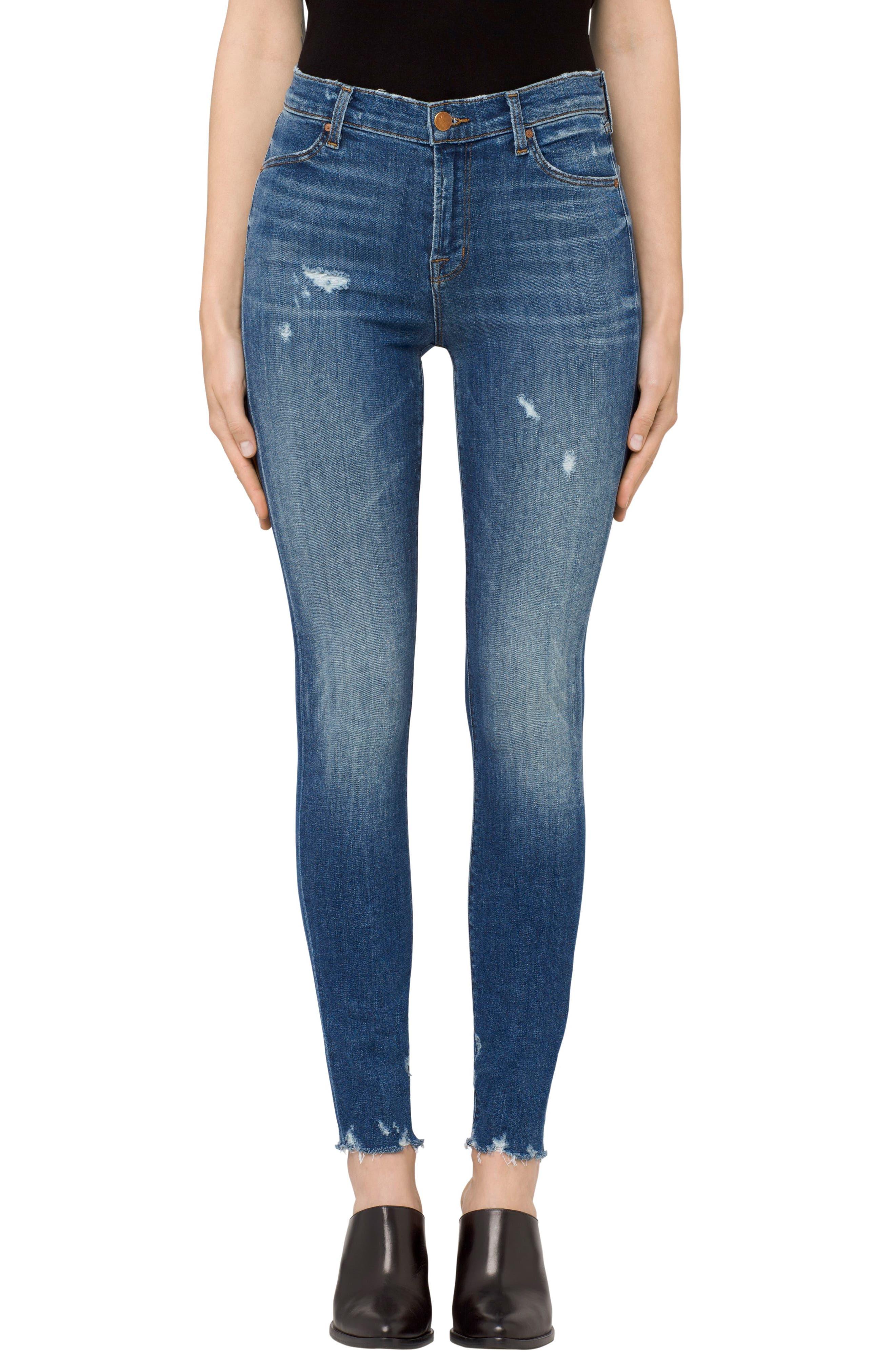 Maria High Waist Skinny Jeans, Main, color, 429