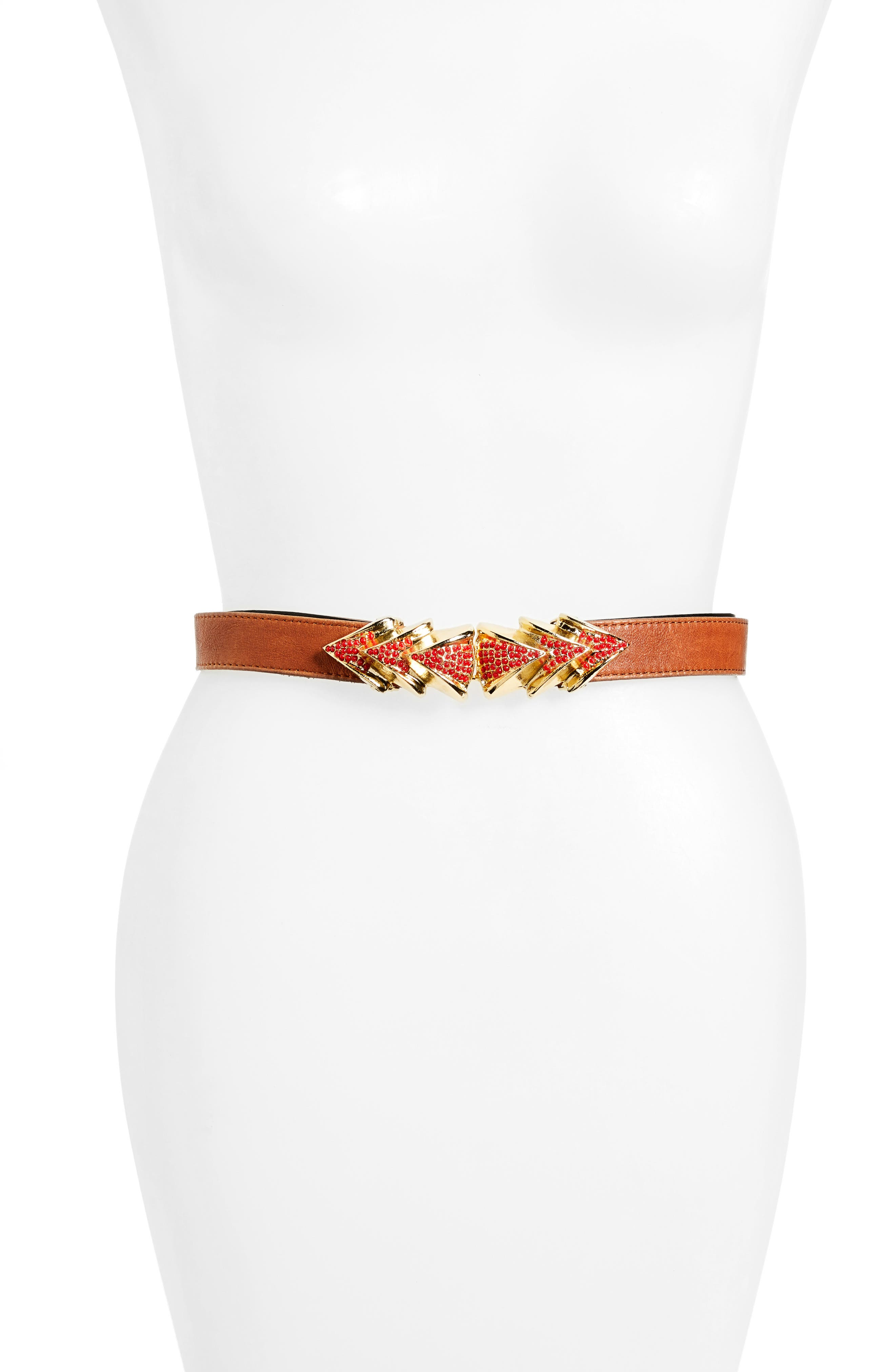 Raina Venice Leather Belt, Size One Size - Brown
