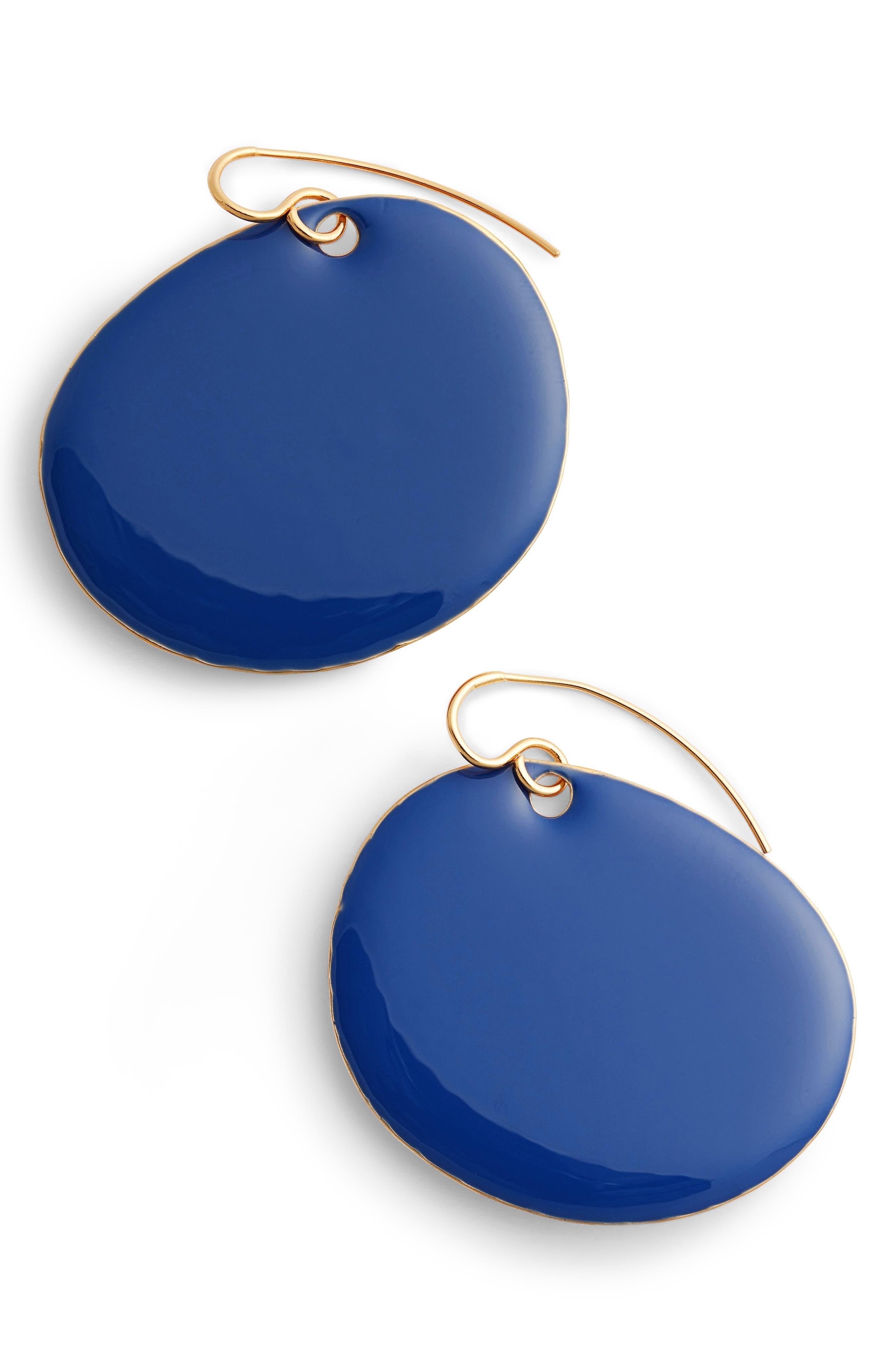 Flat Disc Earrings,                             Main thumbnail 3, color,