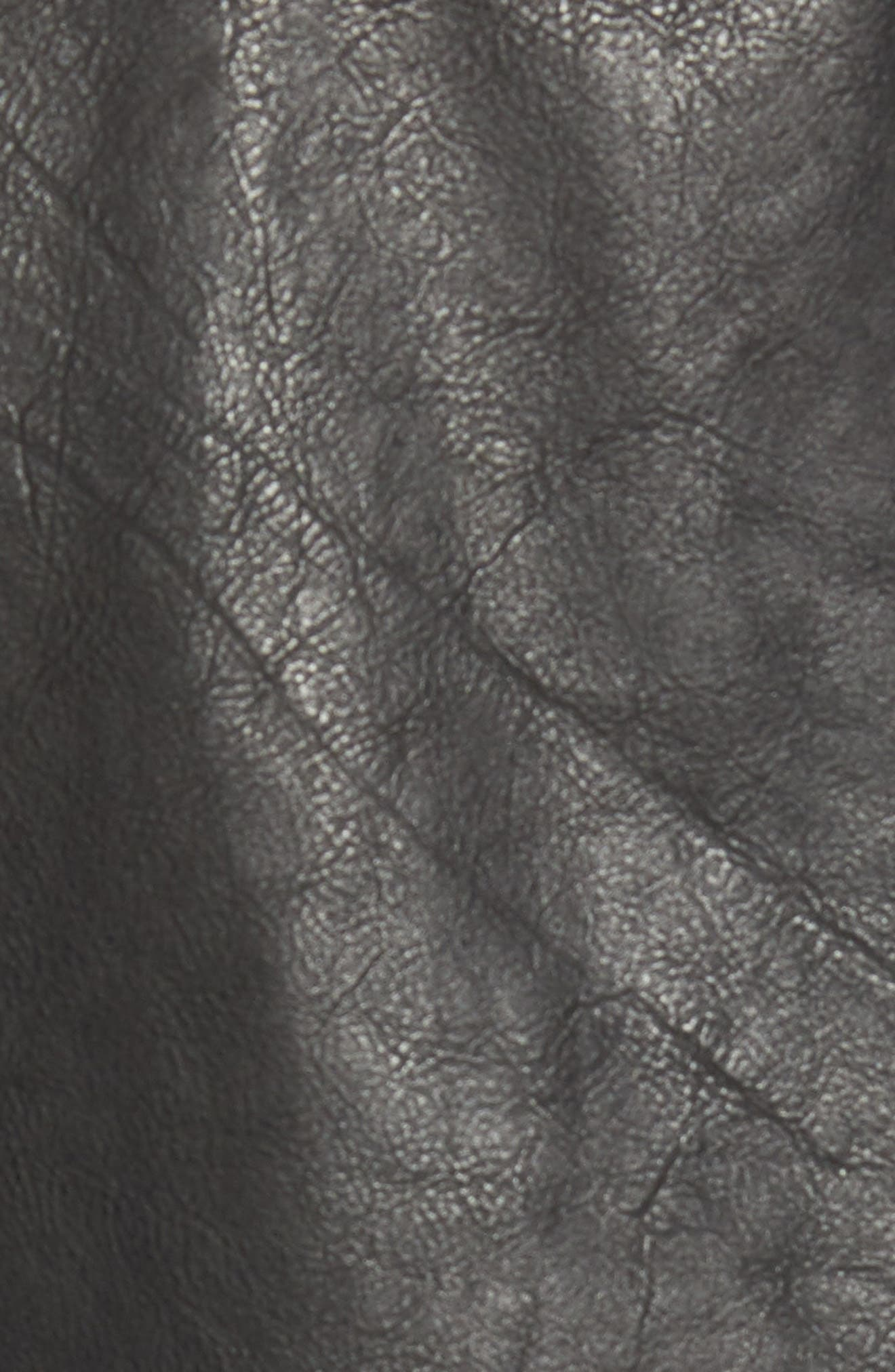 Lector Slim Leather Jacket,                             Alternate thumbnail 6, color,                             BLACK
