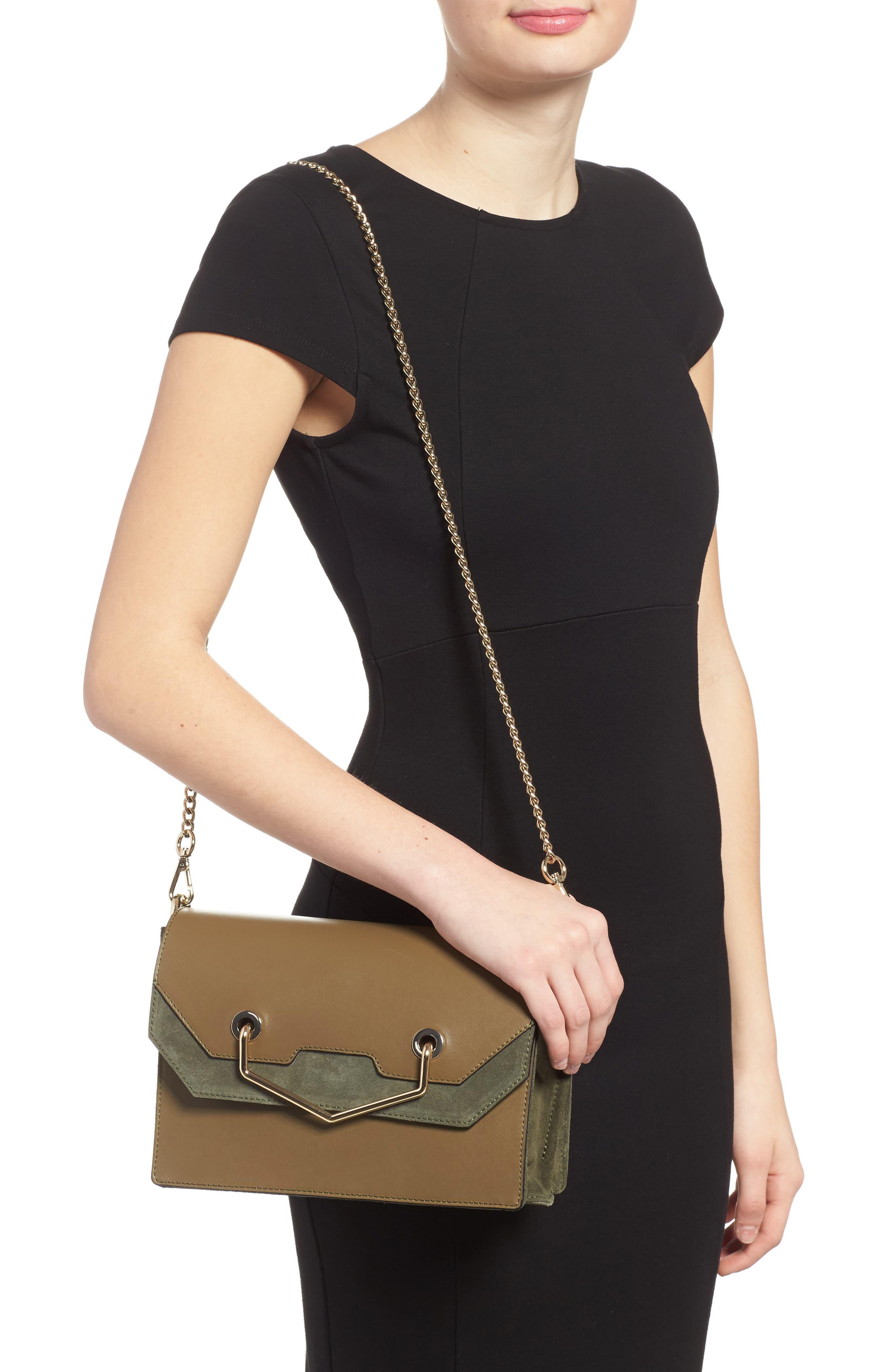 Premium Leather & Suede Soko Shoulder Bag,                             Alternate thumbnail 2, color,