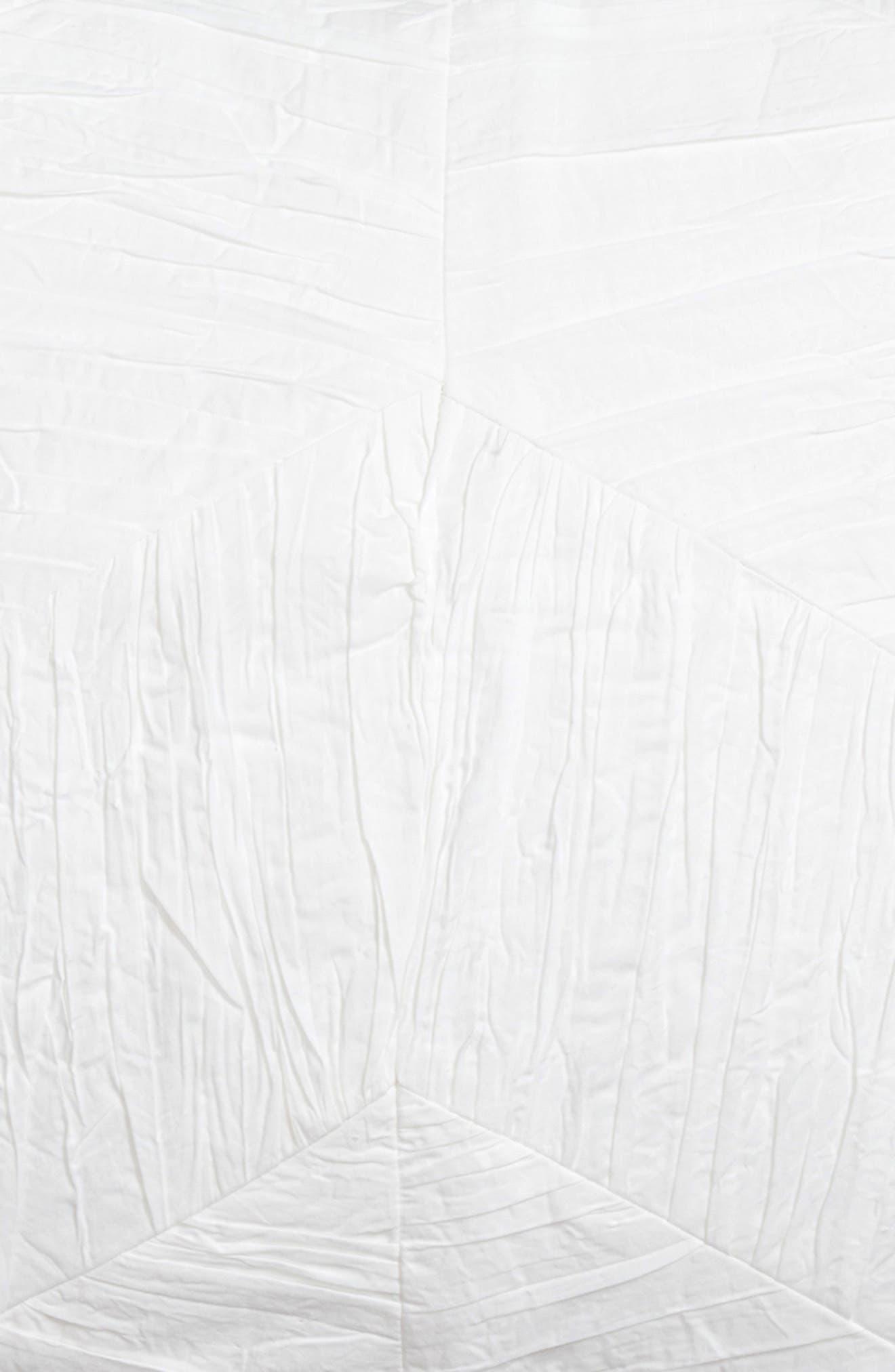 Tile Texture Selene Sham,                             Alternate thumbnail 3, color,                             WHITE
