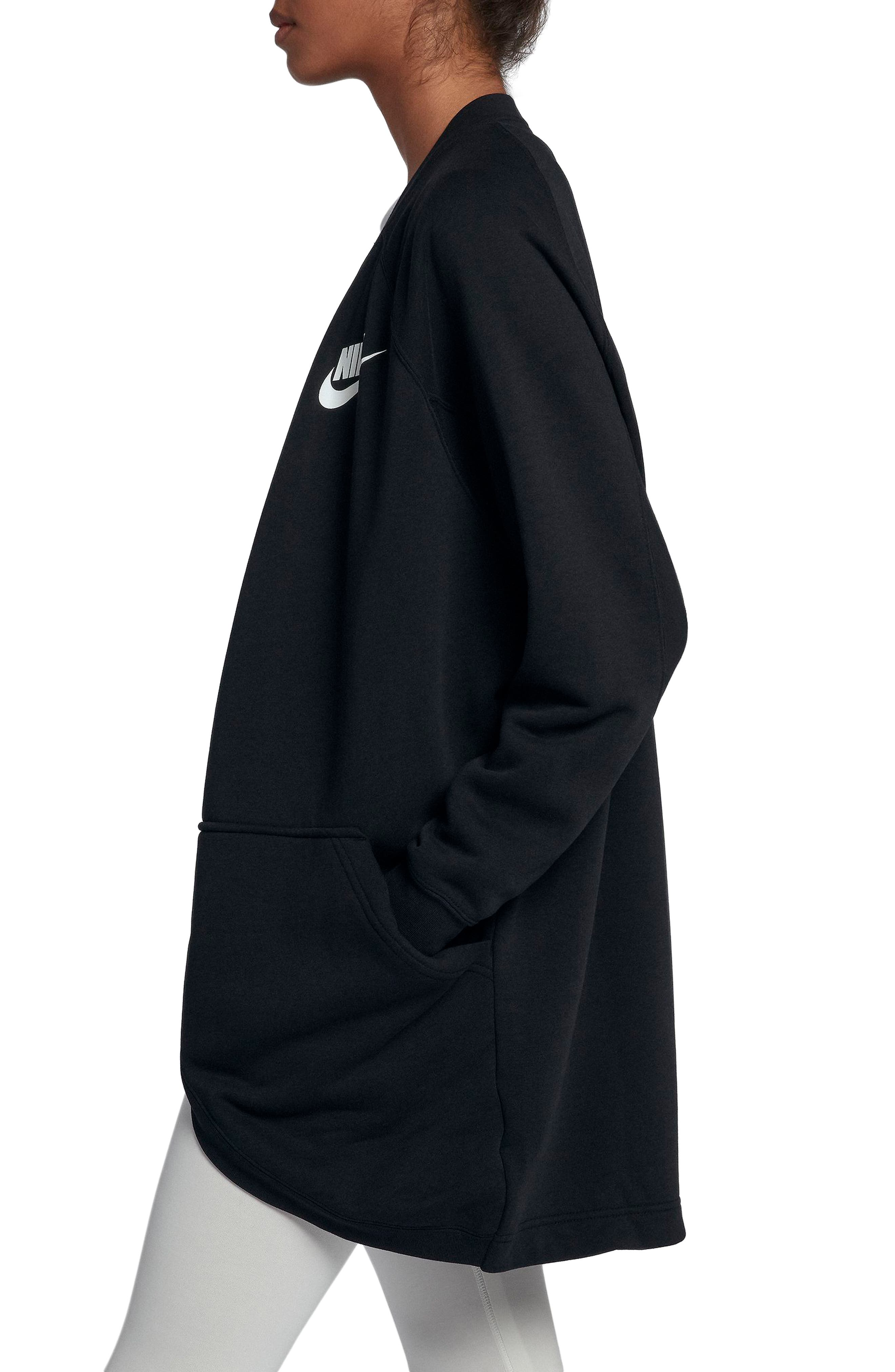 Sportswear Rally Cardigan,                             Alternate thumbnail 3, color,                             BLACK/ BLACK/ WHITE