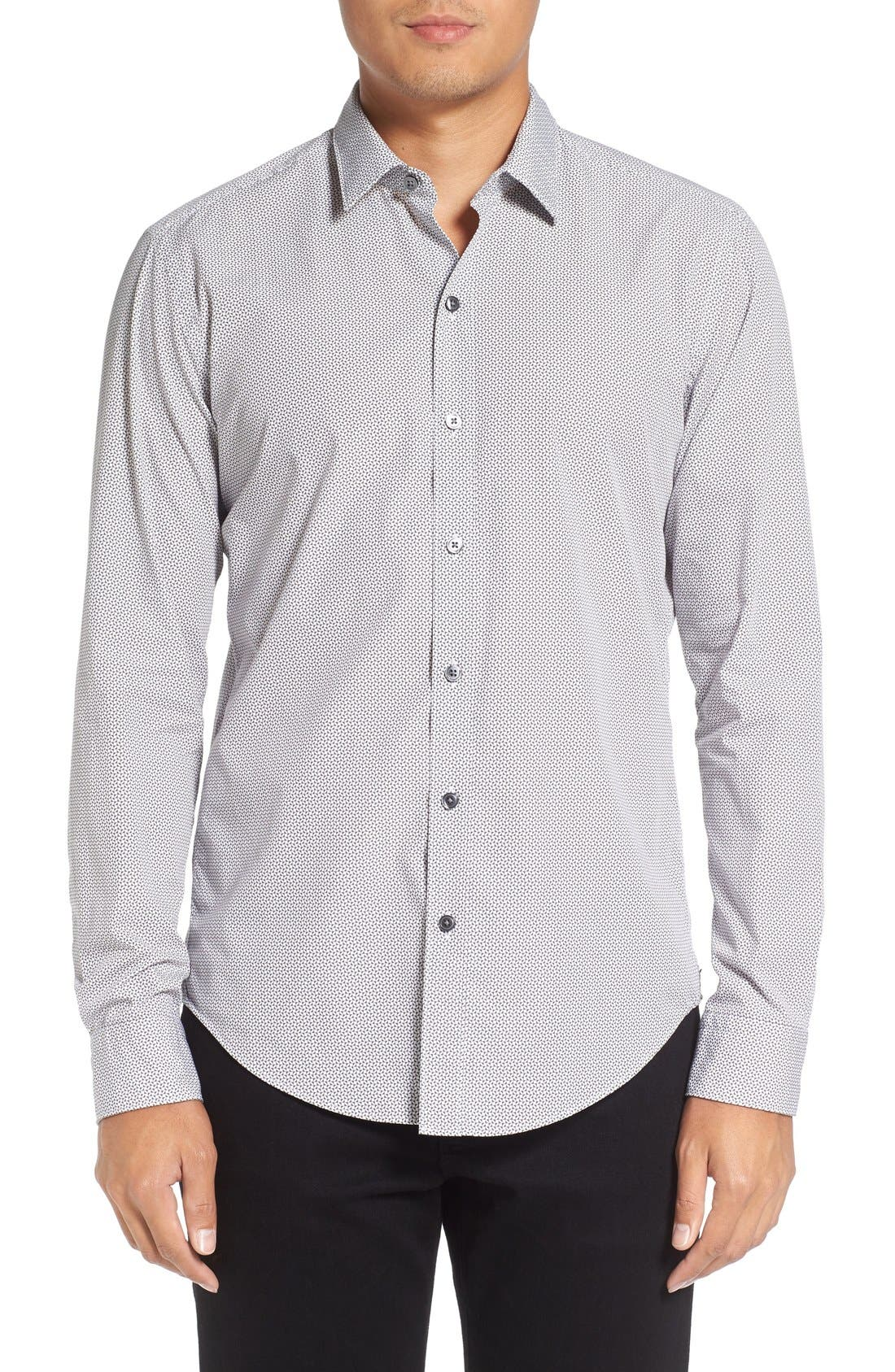 'Robbie' Sharp Fit Graphic Print Sport Shirt,                         Main,                         color, 069
