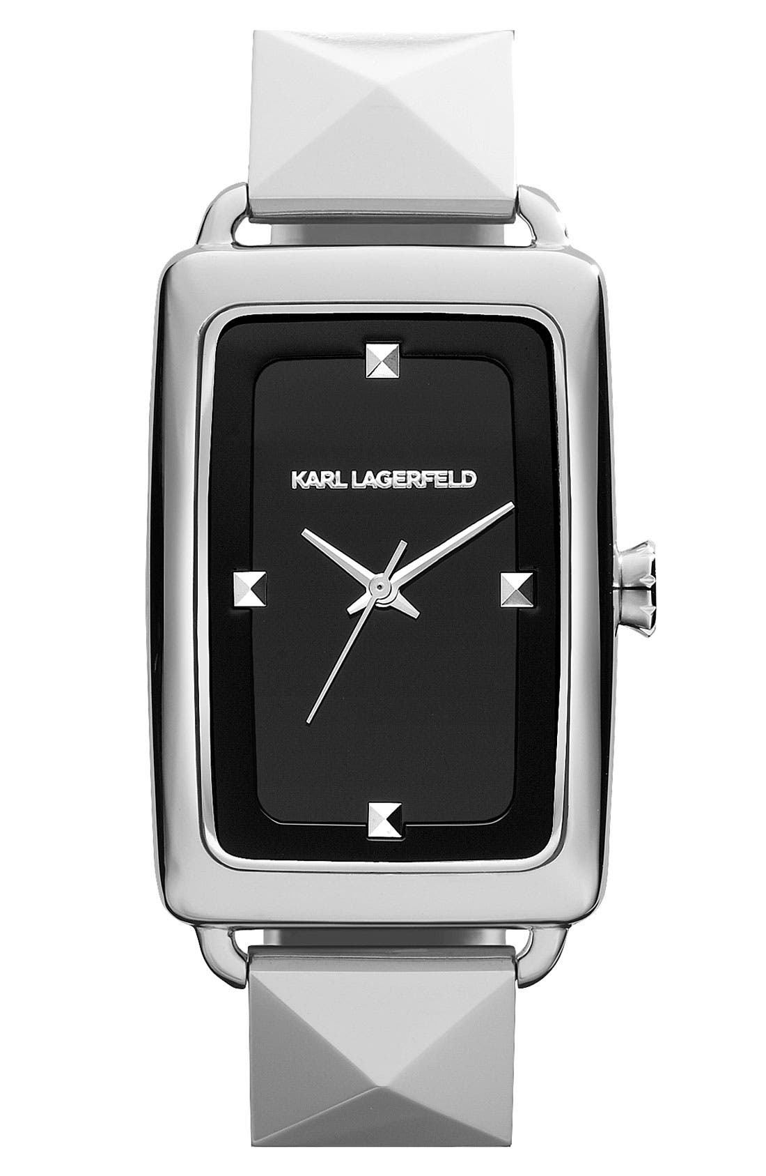 'Kourbe' Rectangular Bracelet Watch, 28mm x 41mm,                             Main thumbnail 3, color,