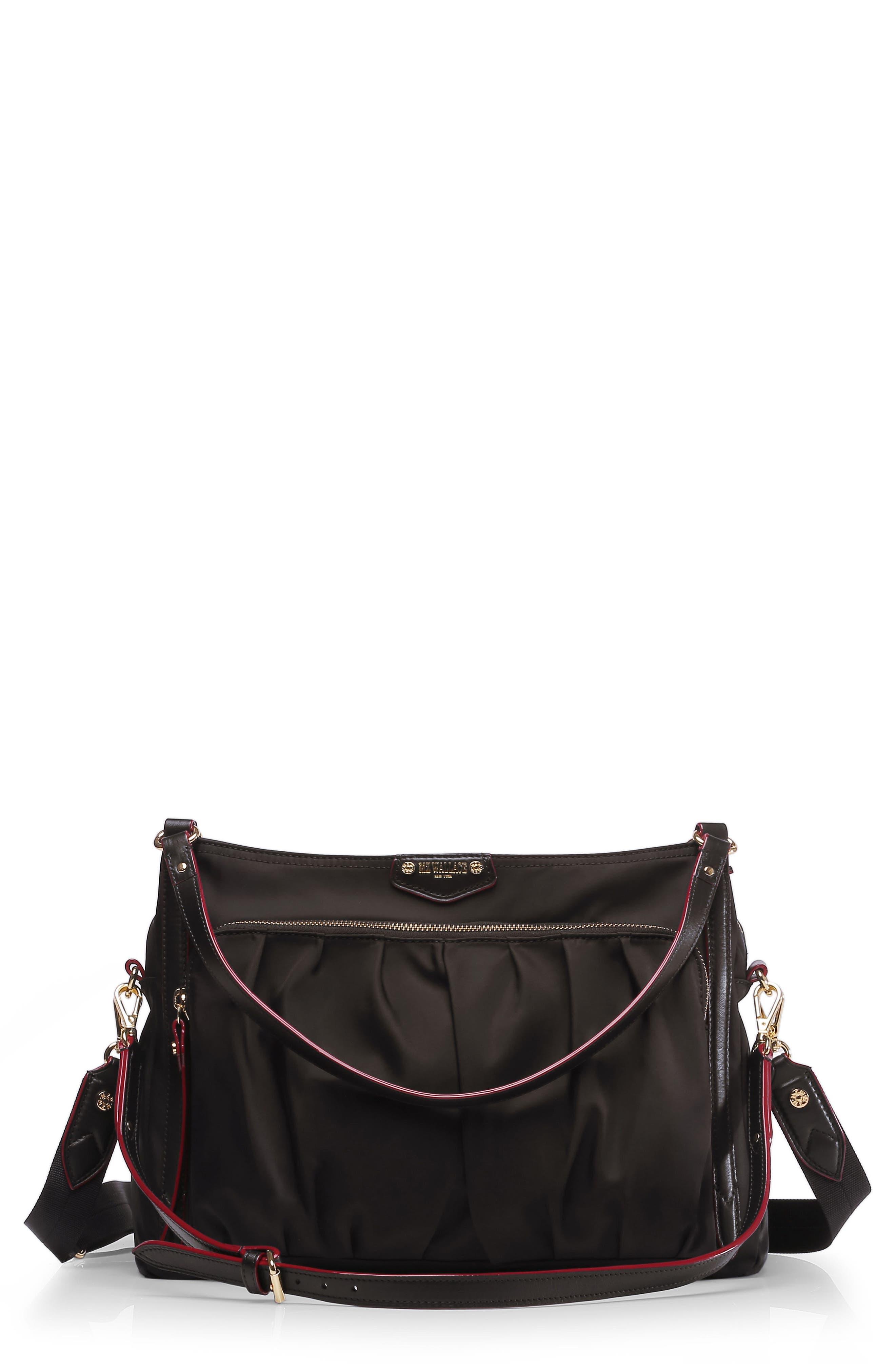 Toni Bedford Nylon Shoulder Bag,                             Main thumbnail 1, color,                             008