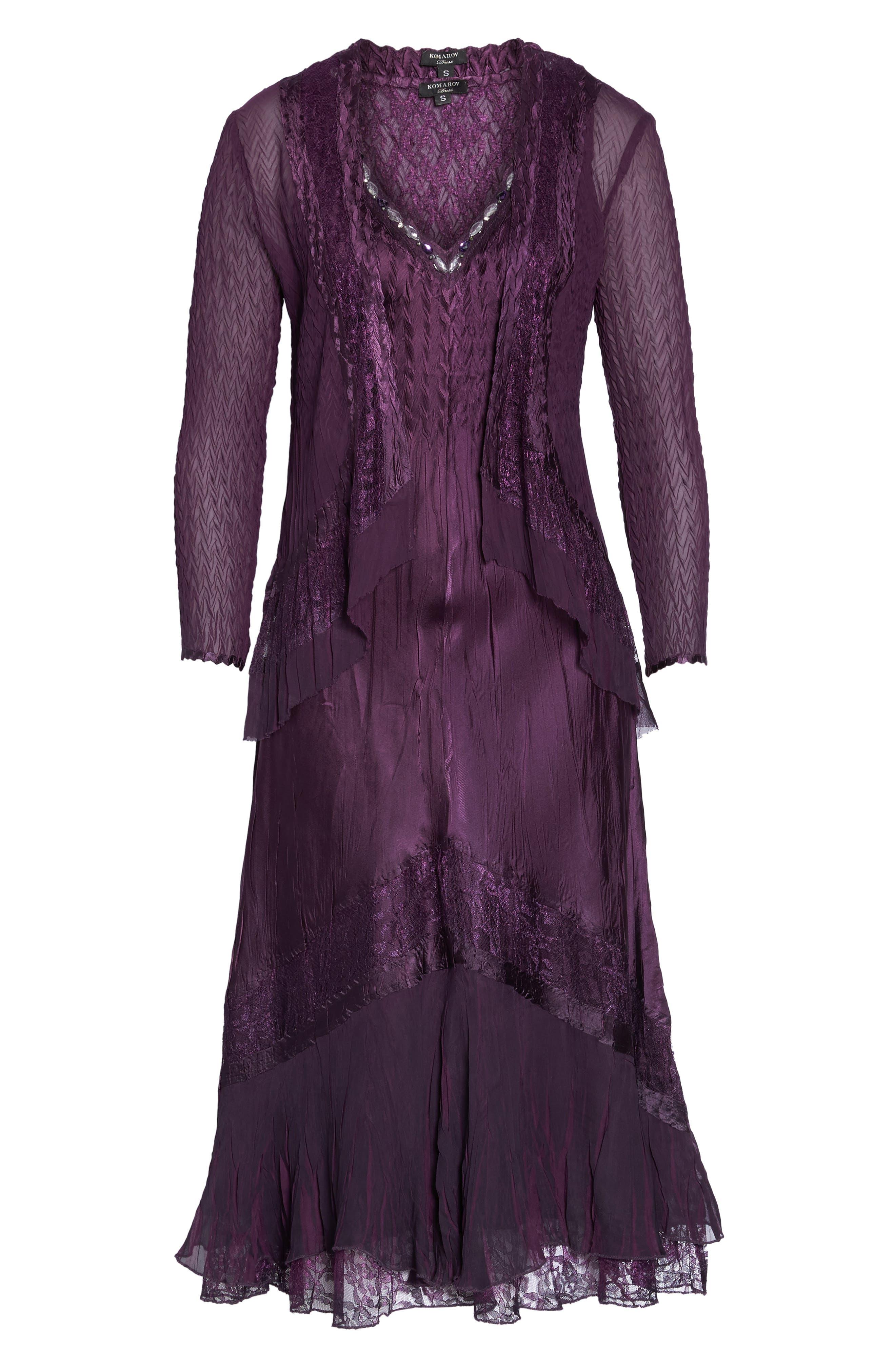Mixed Media A-Line Dress & Jacket,                             Alternate thumbnail 6, color,                             507