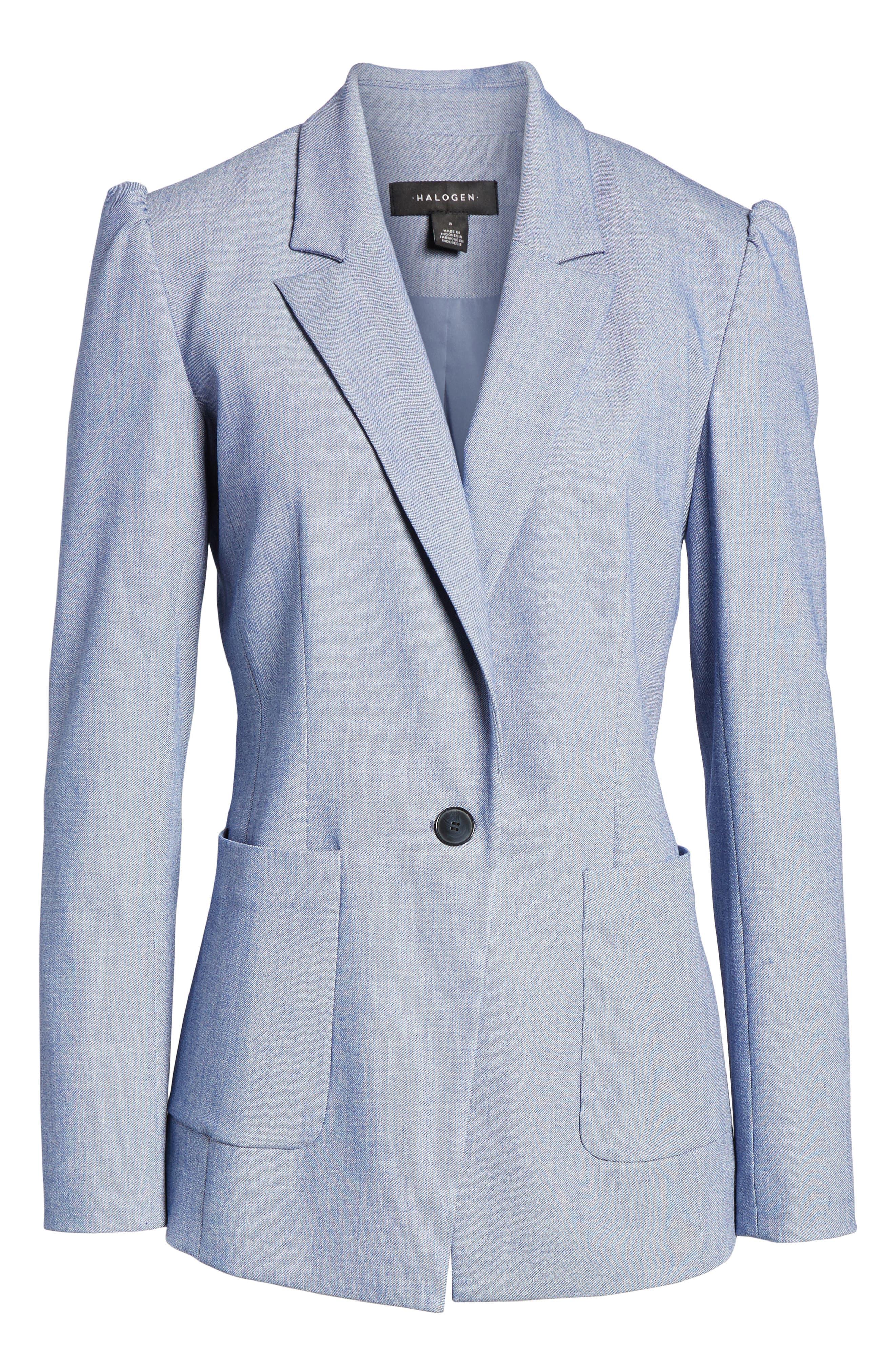 Stretch Woven Suit Blazer,                             Alternate thumbnail 5, color,                             400
