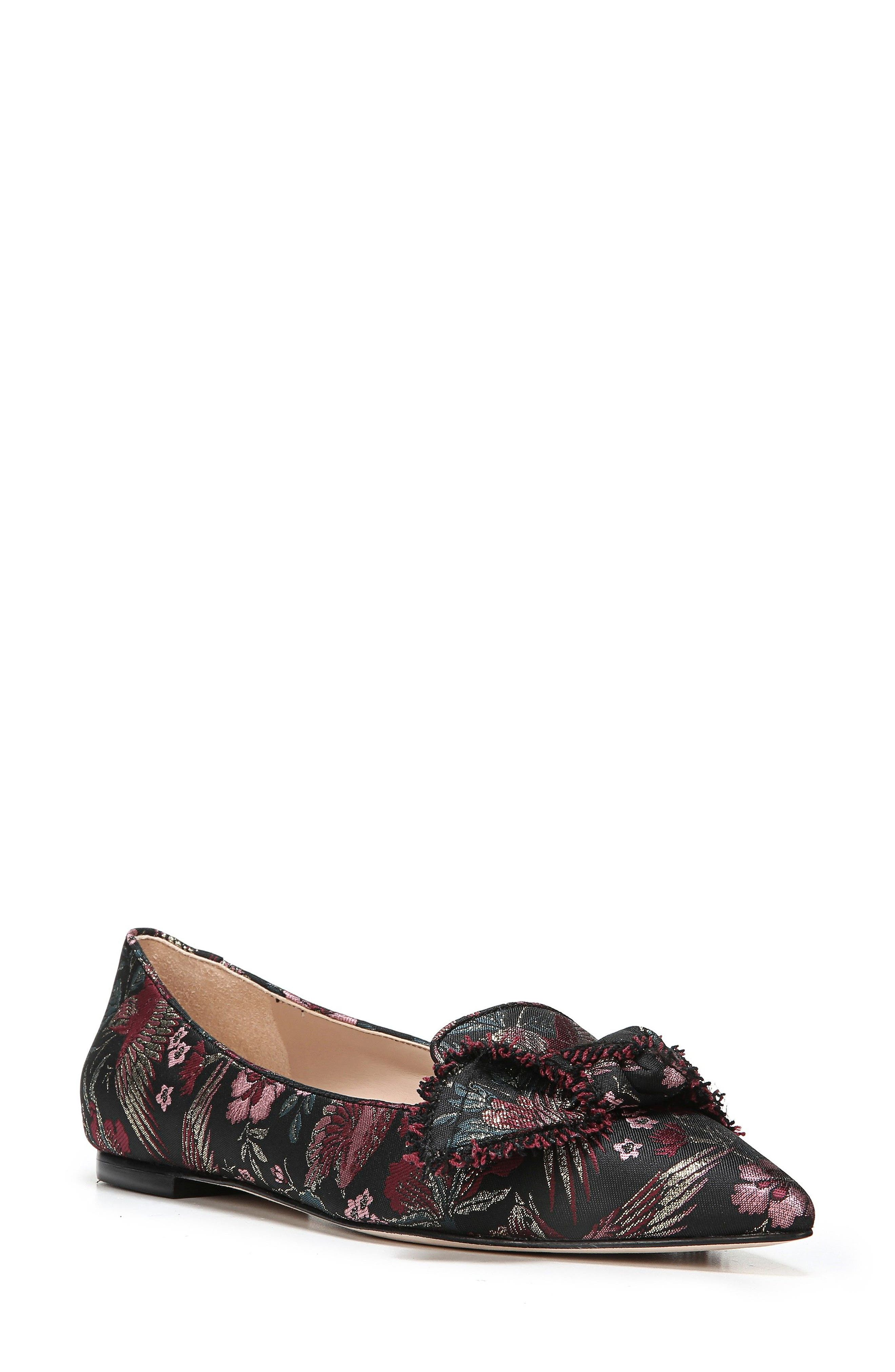 Rochester Bow Pointy Toe Flat,                             Main thumbnail 1, color,                             002