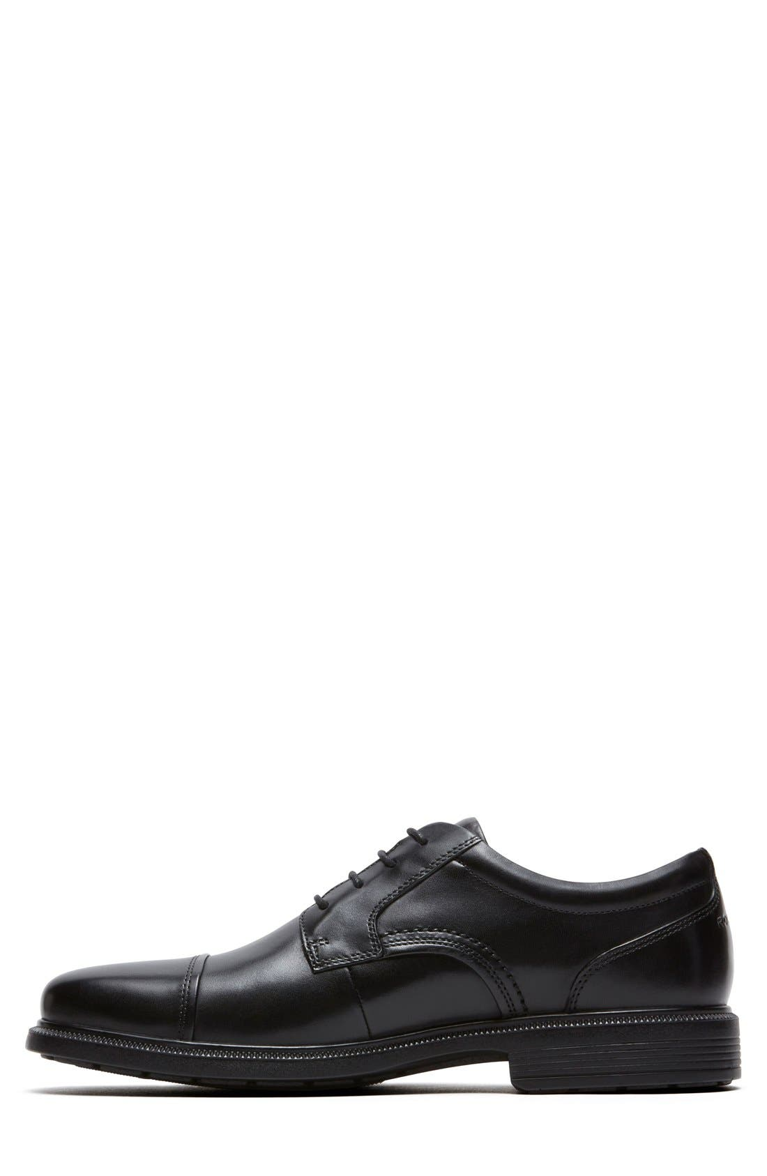 'DresSports Luxe' Cap Toe Derby,                             Alternate thumbnail 2, color,                             BLACK