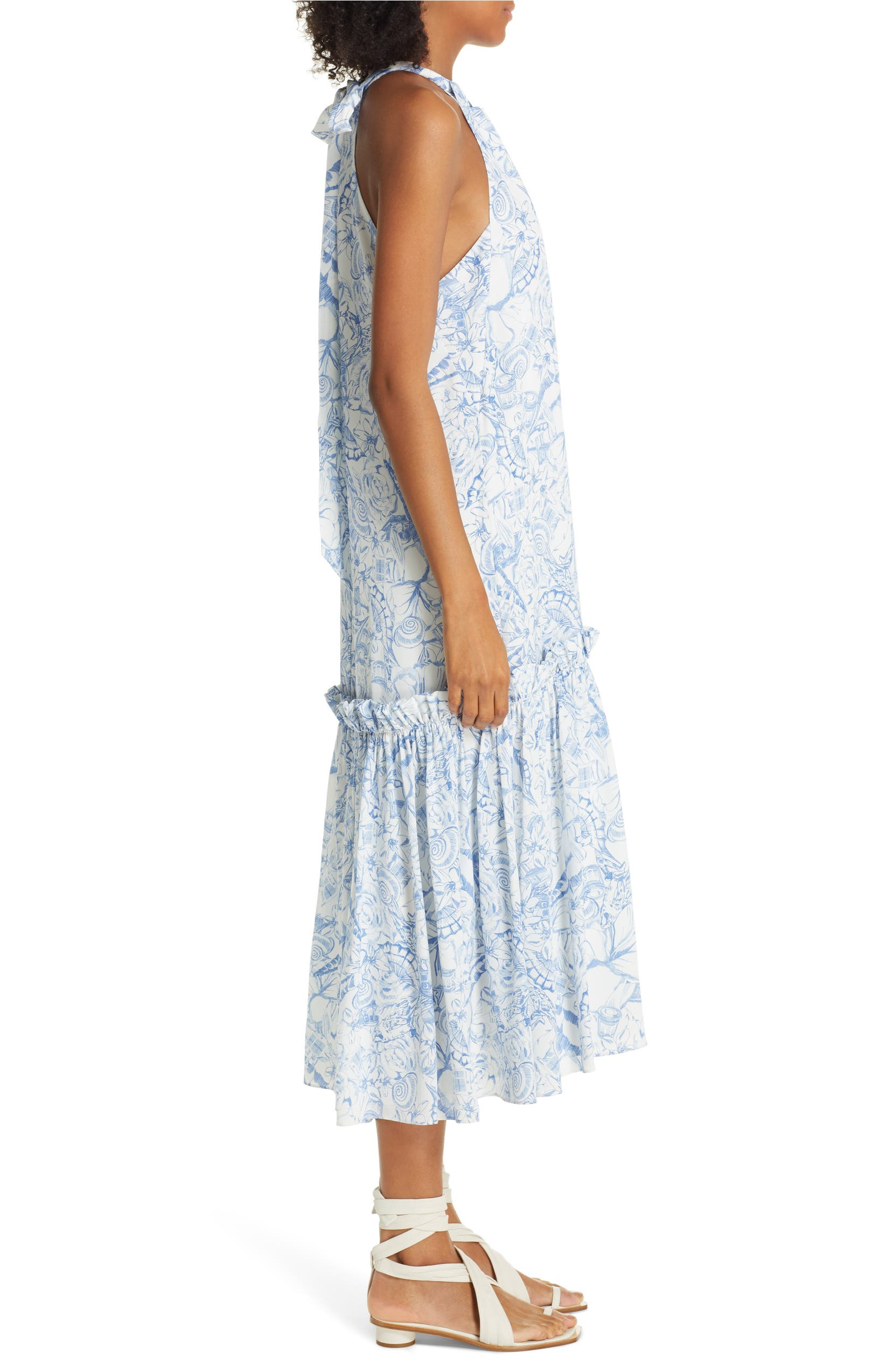 35e11369ace Tibi Isa Toile Print Silk Midi Dress