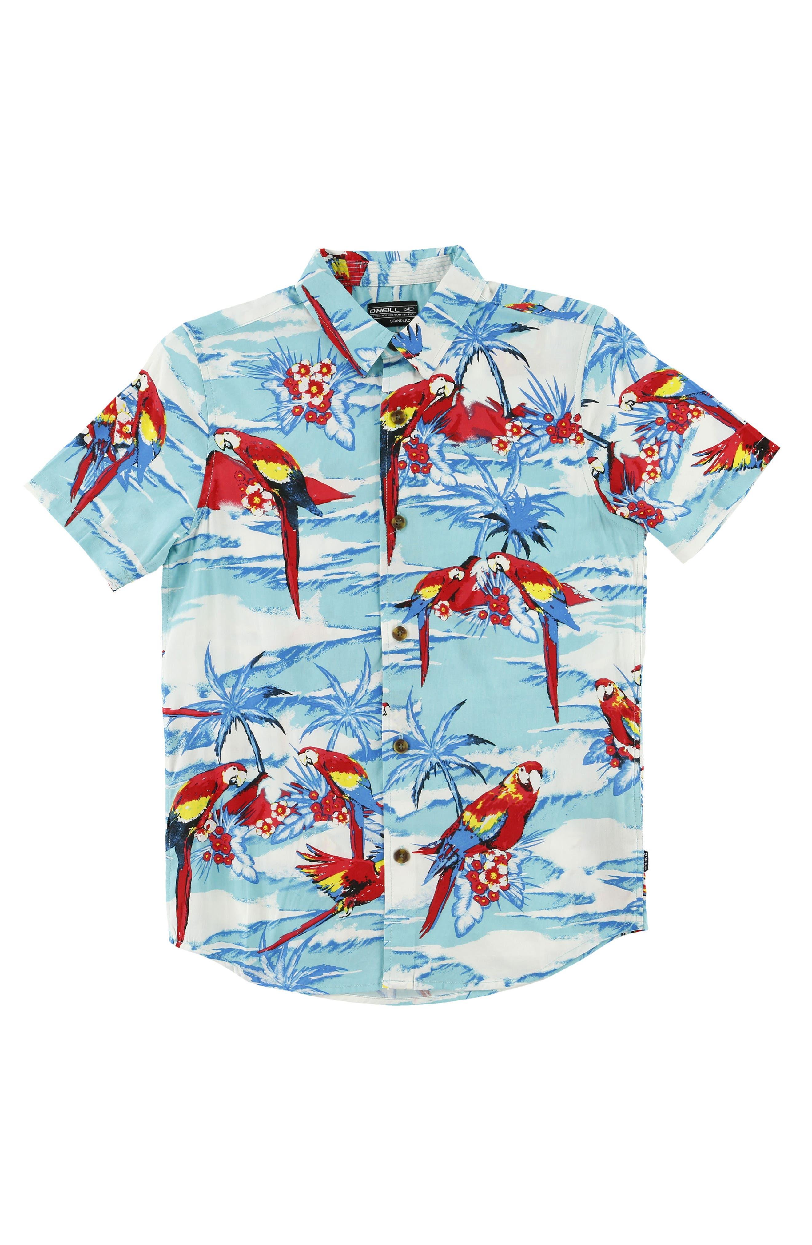 Macaw Sport Shirt,                             Alternate thumbnail 3, color,                             492