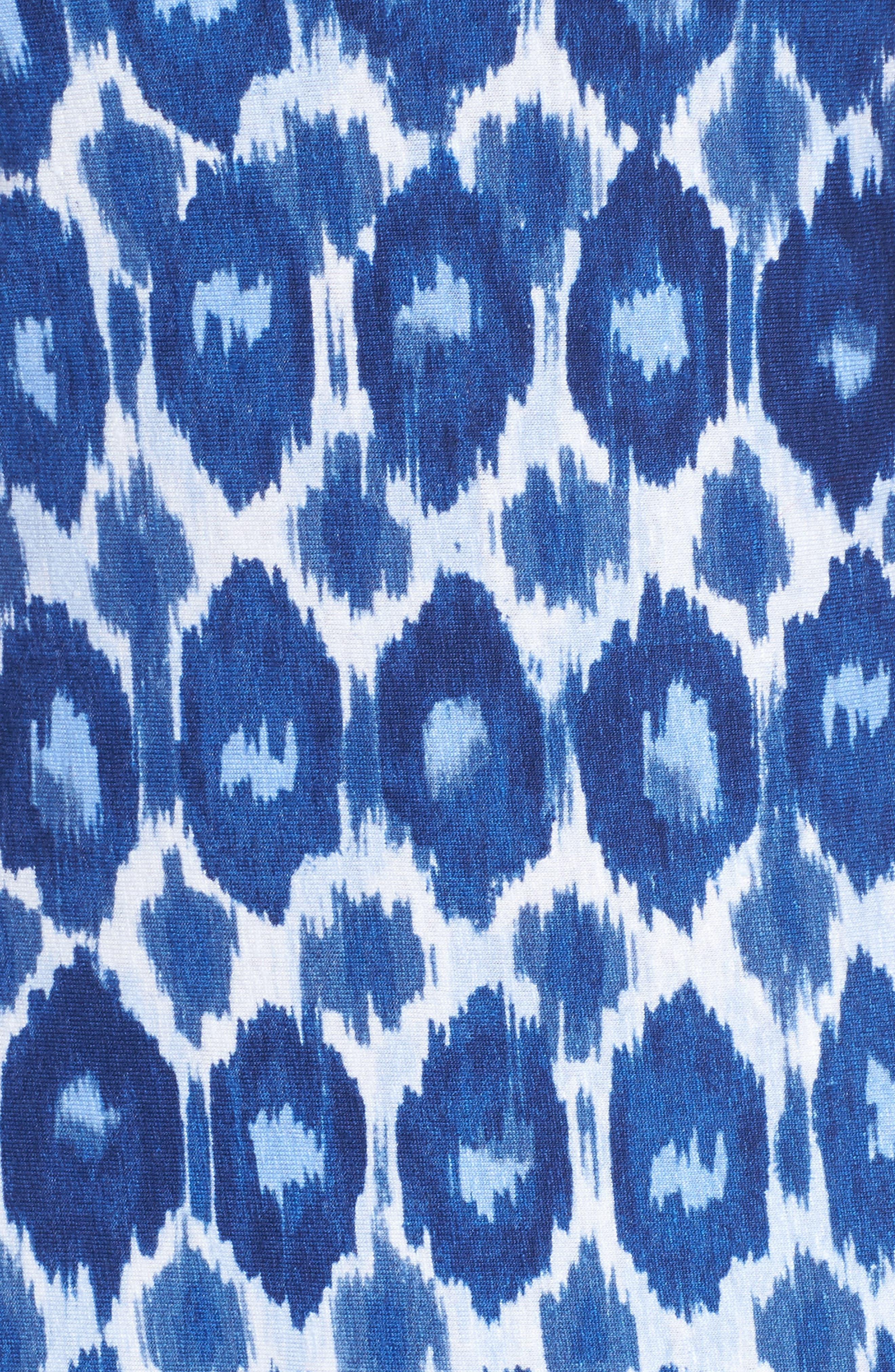 Innercoastal Ikat Sleeveless Dress,                             Alternate thumbnail 5, color,                             KINGDOM BLUE