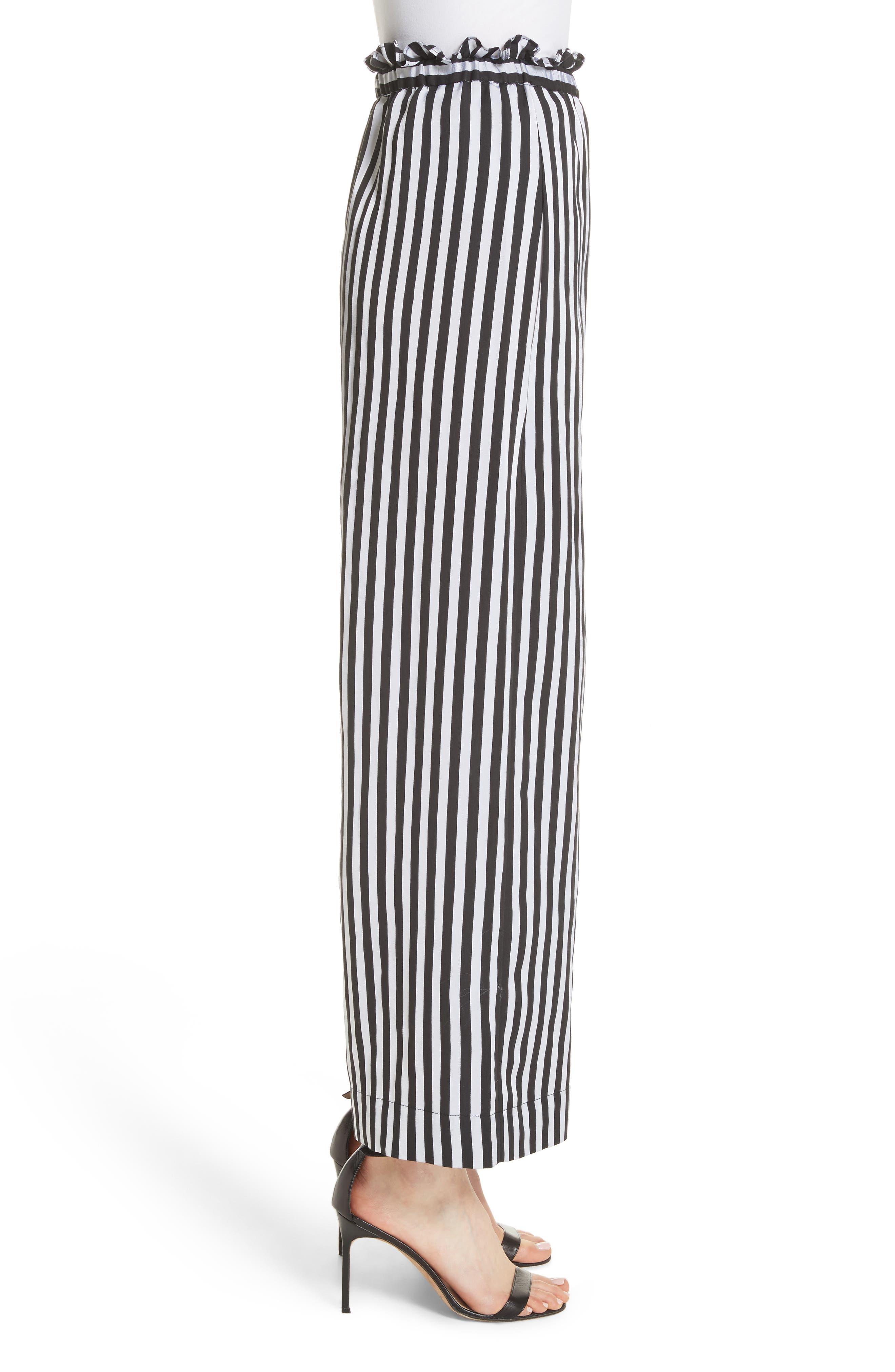 Wide Leg Crop Pants,                             Alternate thumbnail 3, color,                             001