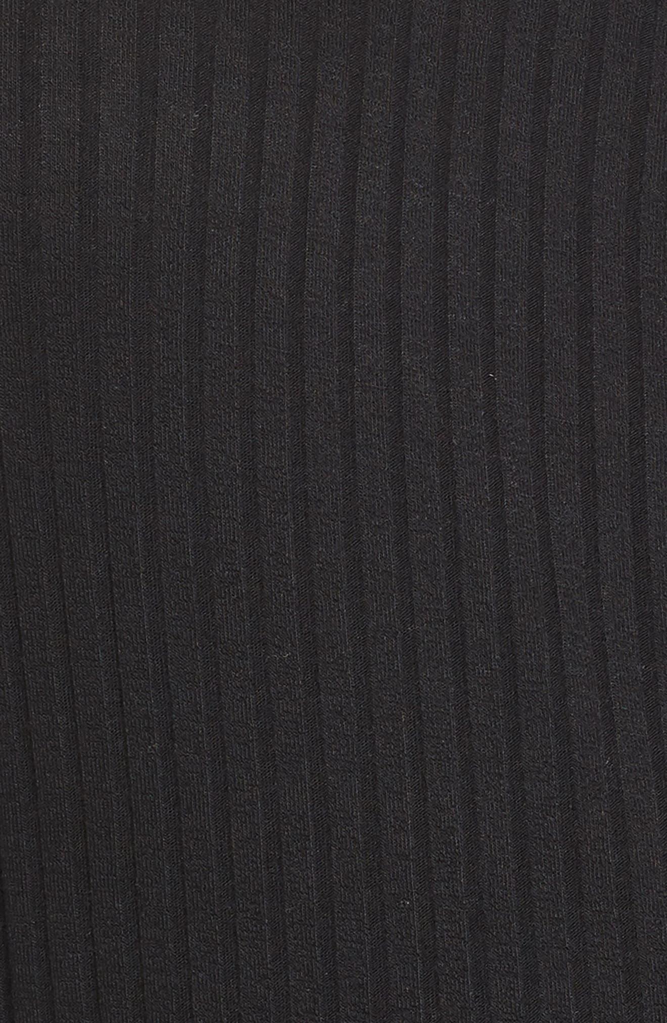 BP.,                             Wide Leg Rib Jumpsuit,                             Alternate thumbnail 12, color,                             BLACK