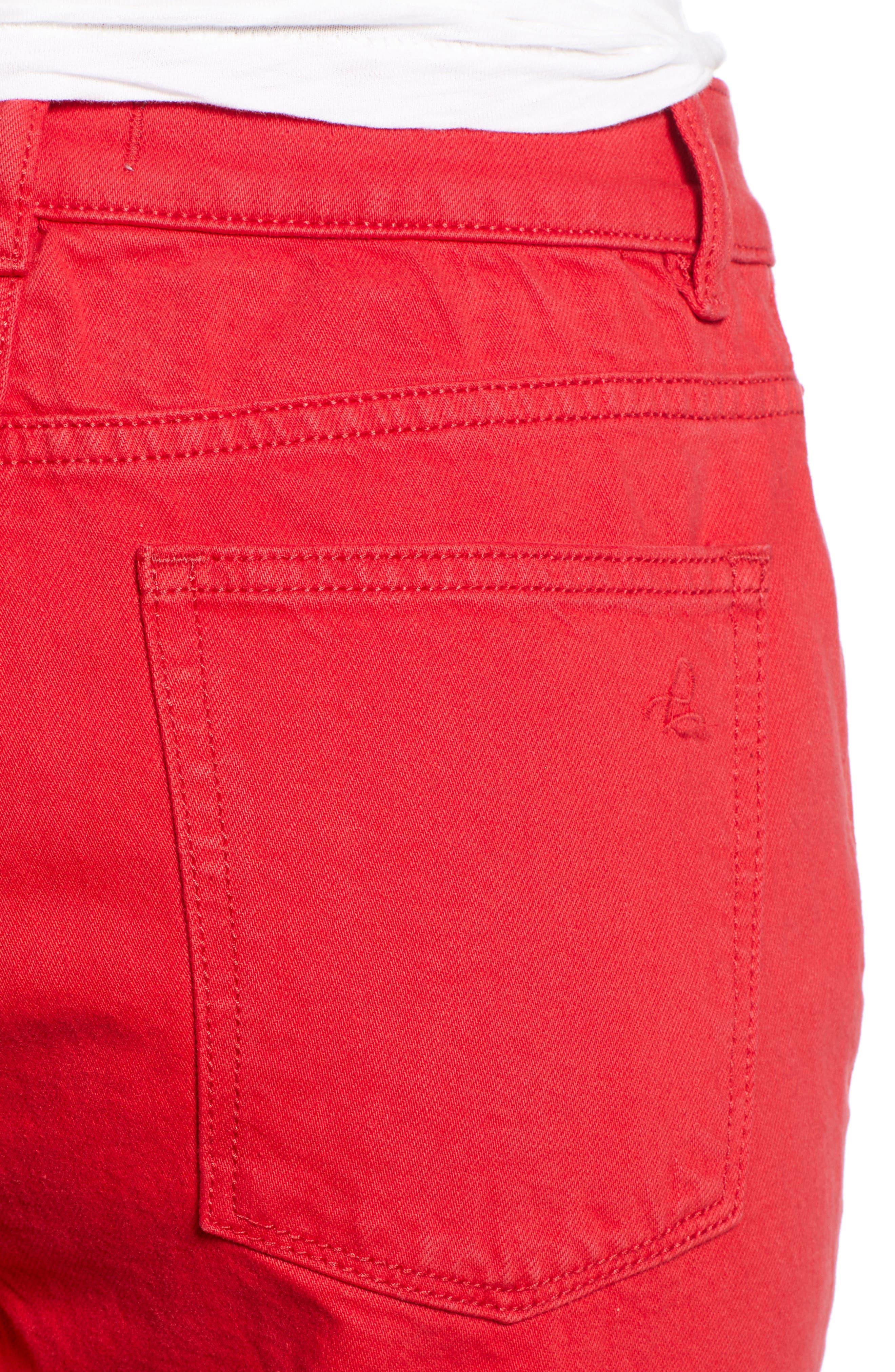 Jerry High Waist Straight Leg Jeans,                             Alternate thumbnail 4, color,                             600