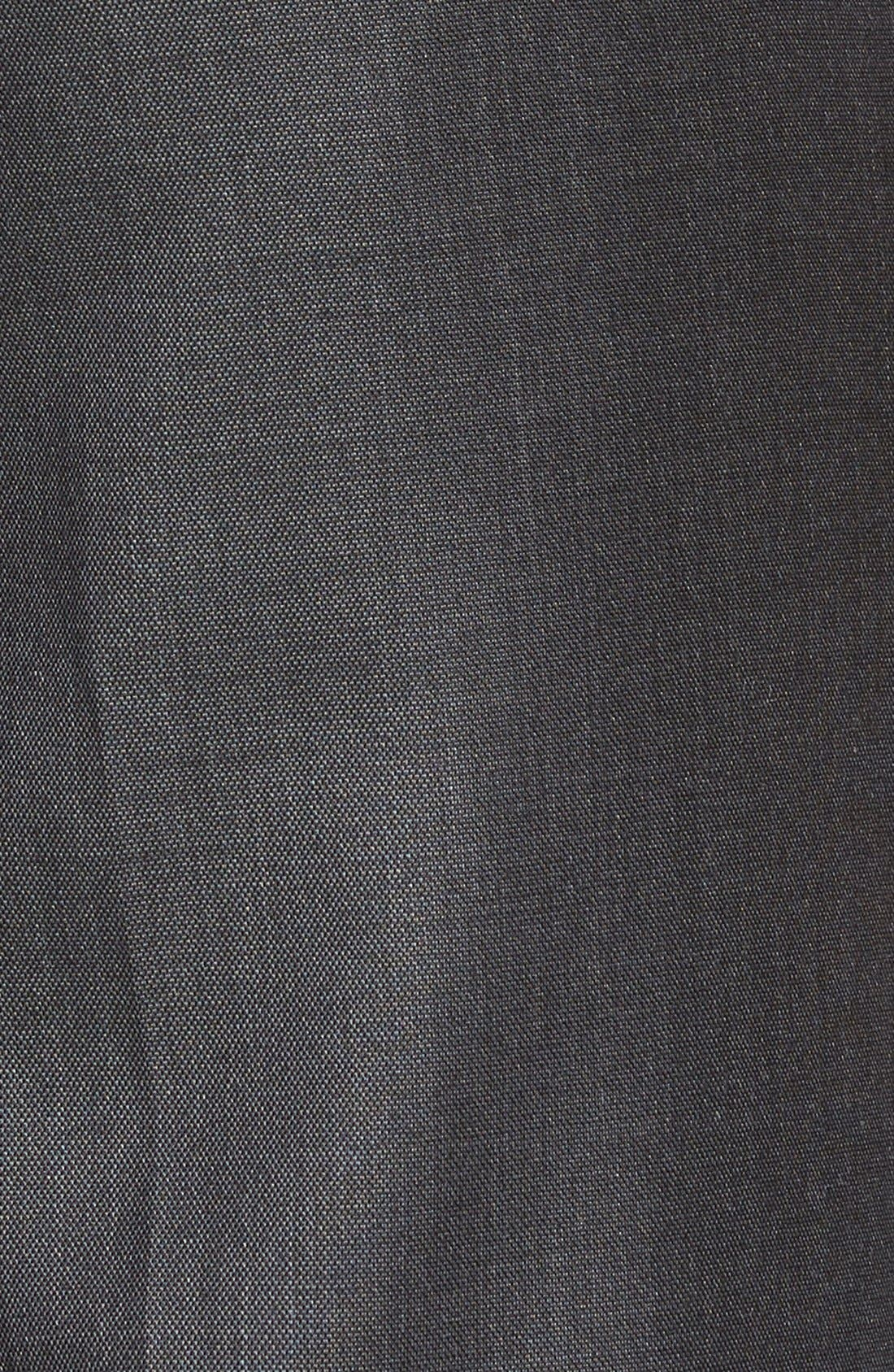 Jefferson Flat Front Wool Trousers,                             Alternate thumbnail 8, color,                             MID GREY
