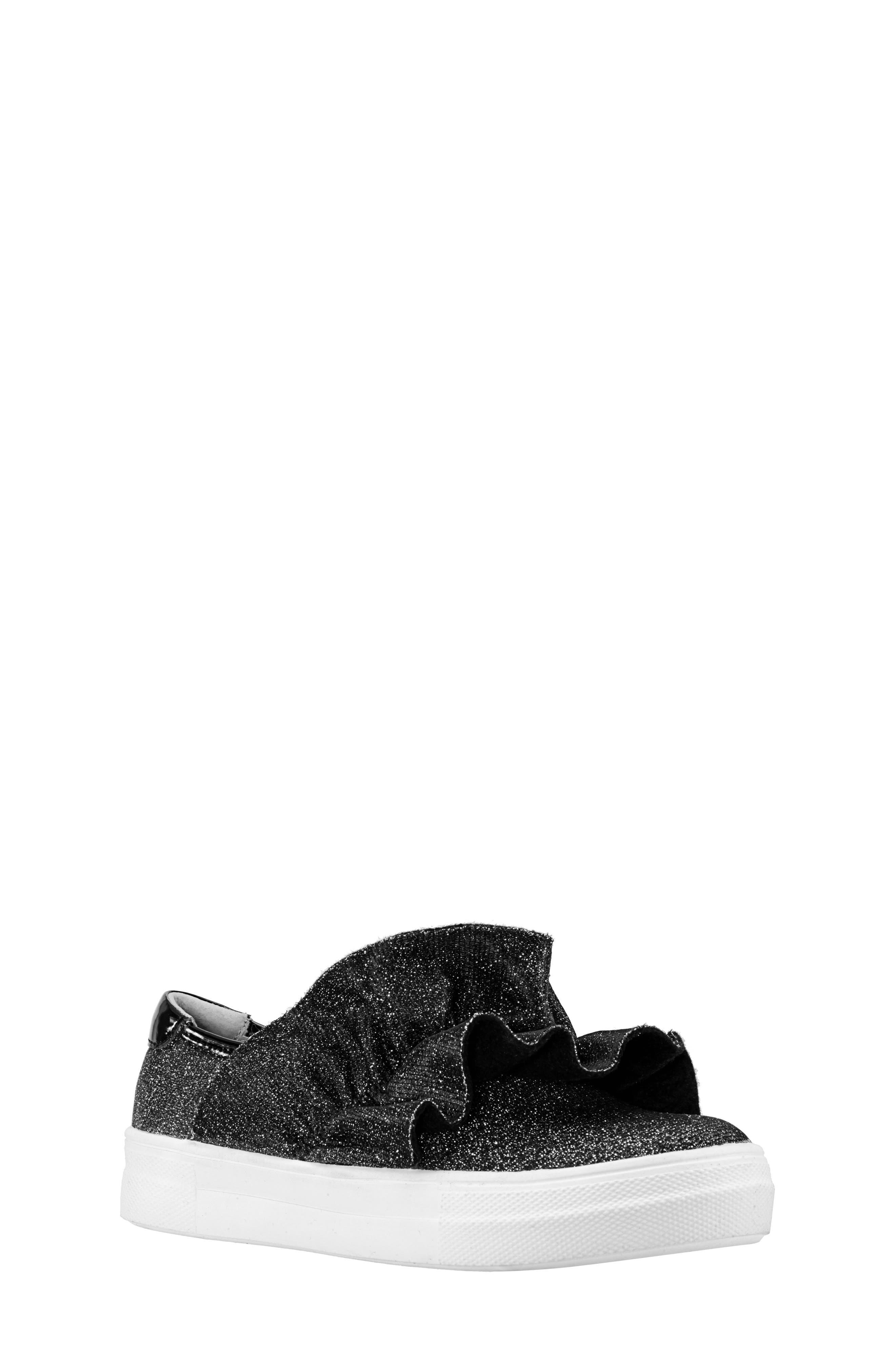 Ivani Slip-On Sneaker,                             Main thumbnail 1, color,                             BLACK SPARKLE FABRIC