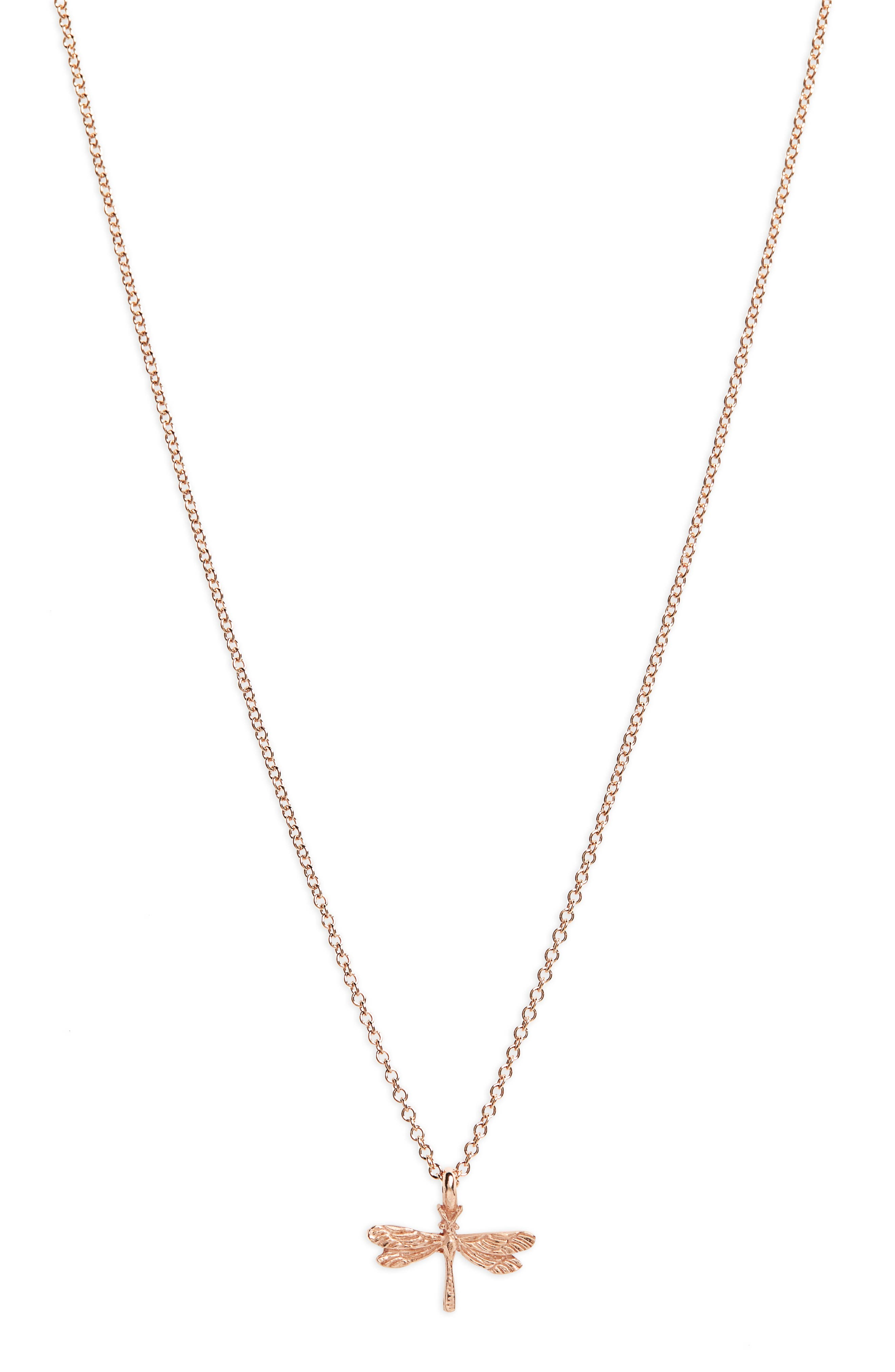 Friends Forever Dragonfly Pendant Necklace,                         Main,                         color, 650
