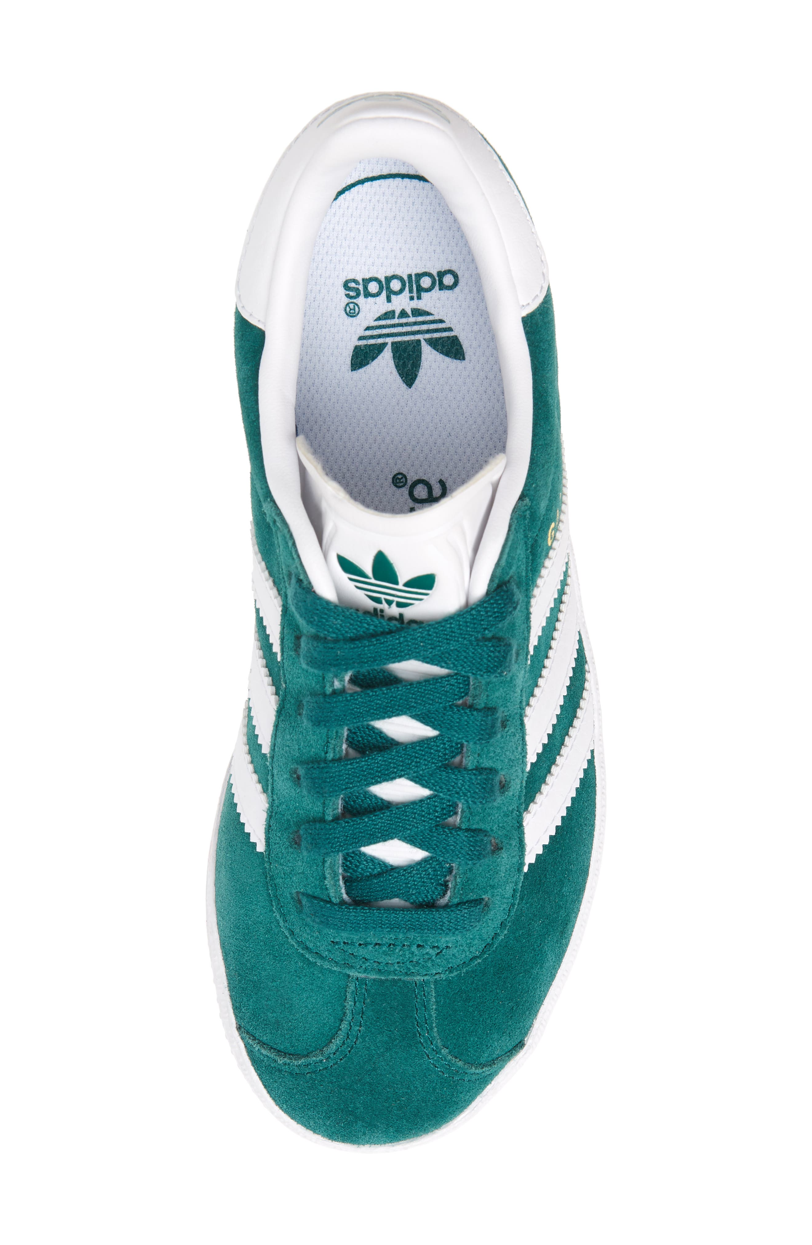 Gazelle Sneaker,                             Alternate thumbnail 5, color,                             NOBLE GREEN/ WHITE