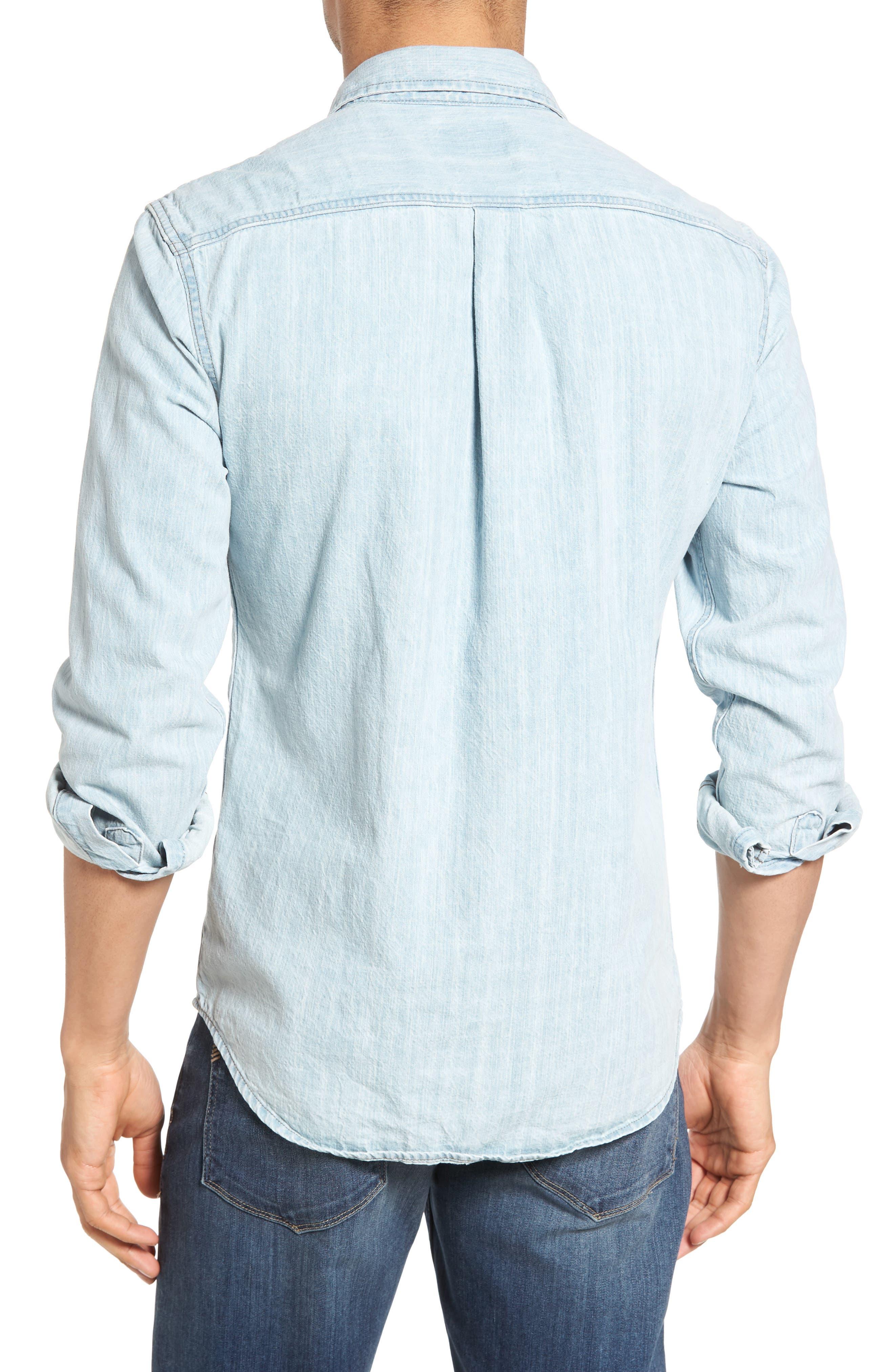 Selvedge Denim Shirt,                             Alternate thumbnail 2, color,                             414