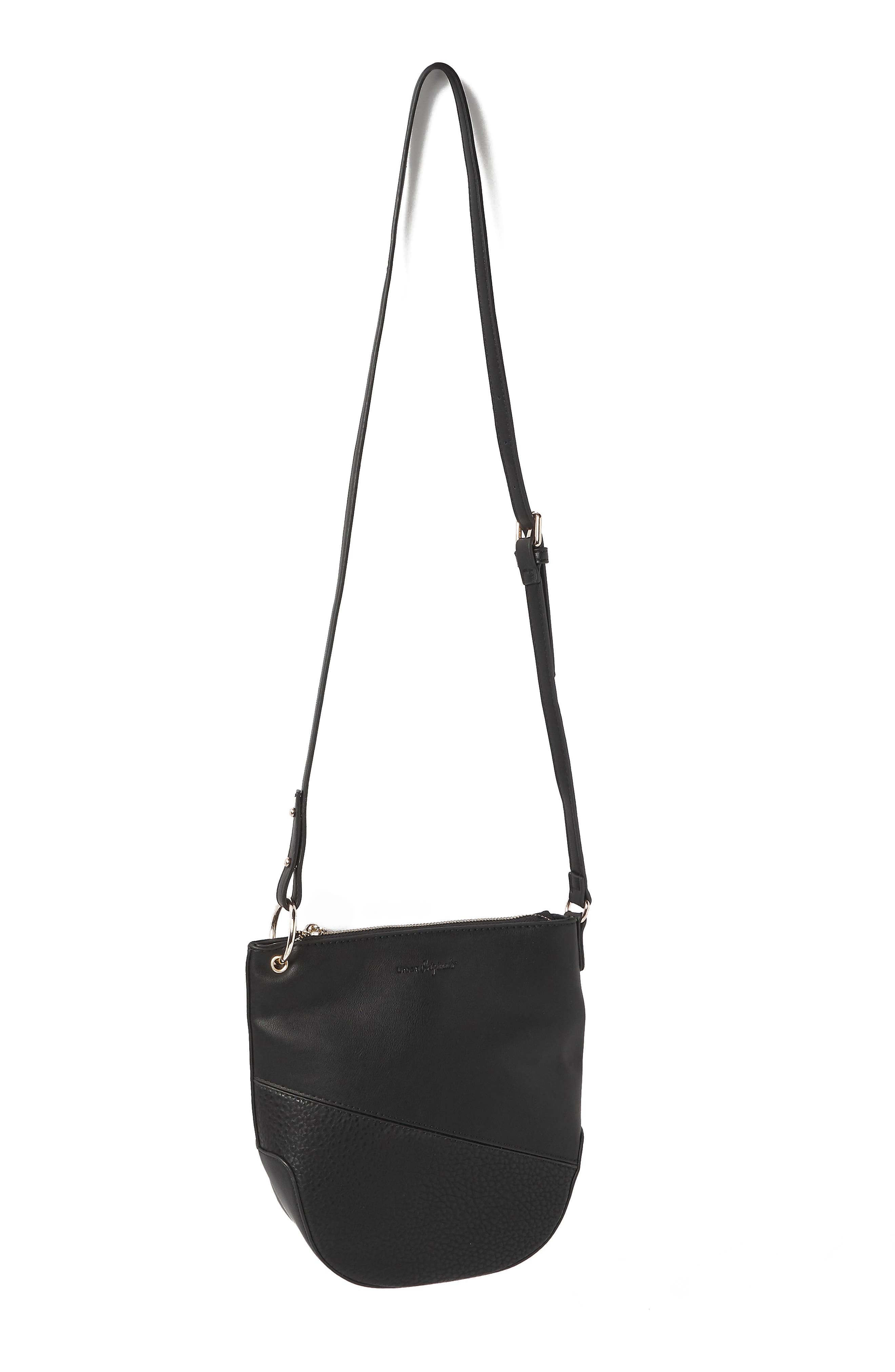 Escape Vegan Leather Bucket Bag,                             Alternate thumbnail 2, color,                             BLACK