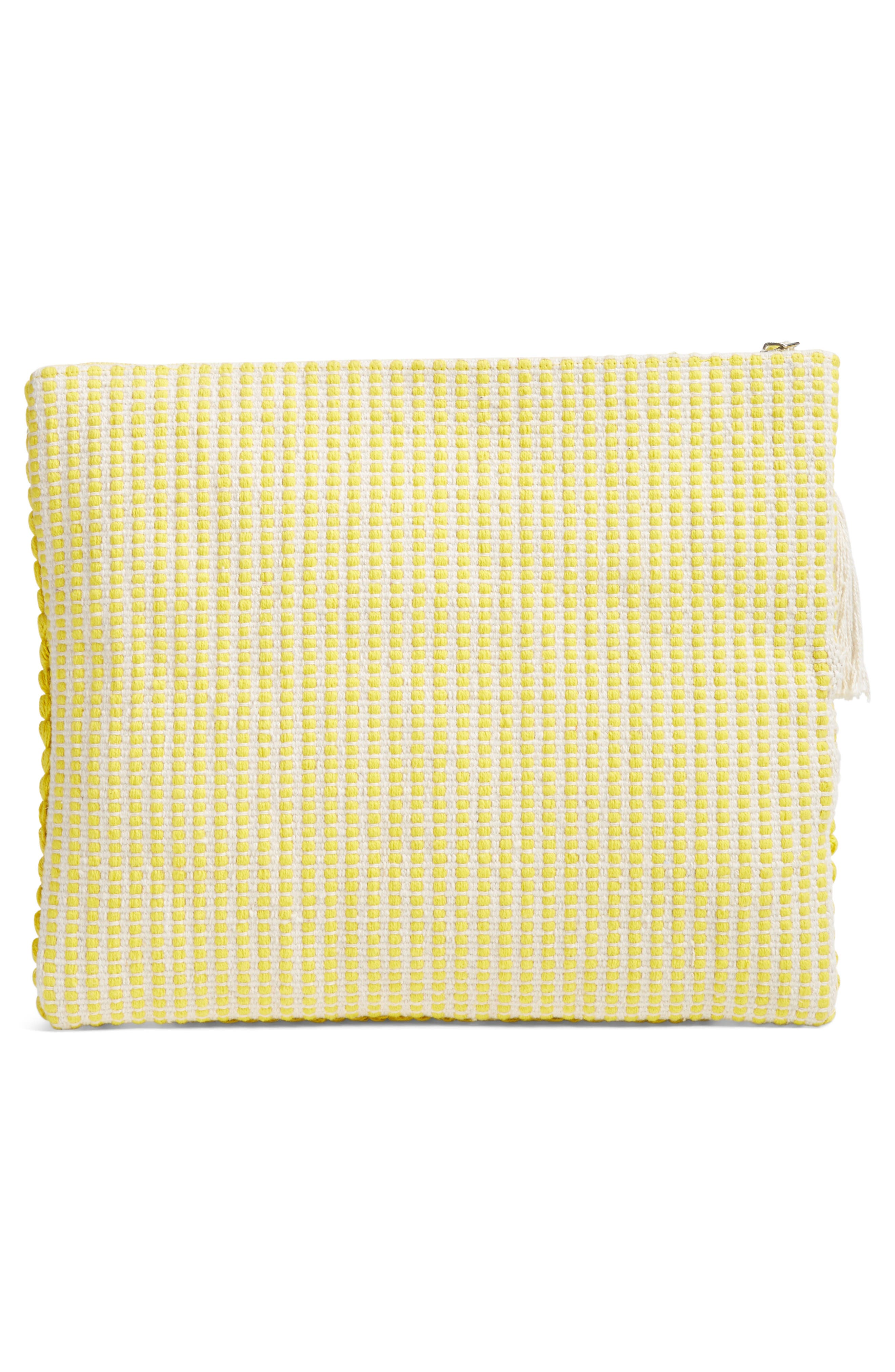Palisades Tasseled Woven Clutch,                             Alternate thumbnail 10, color,