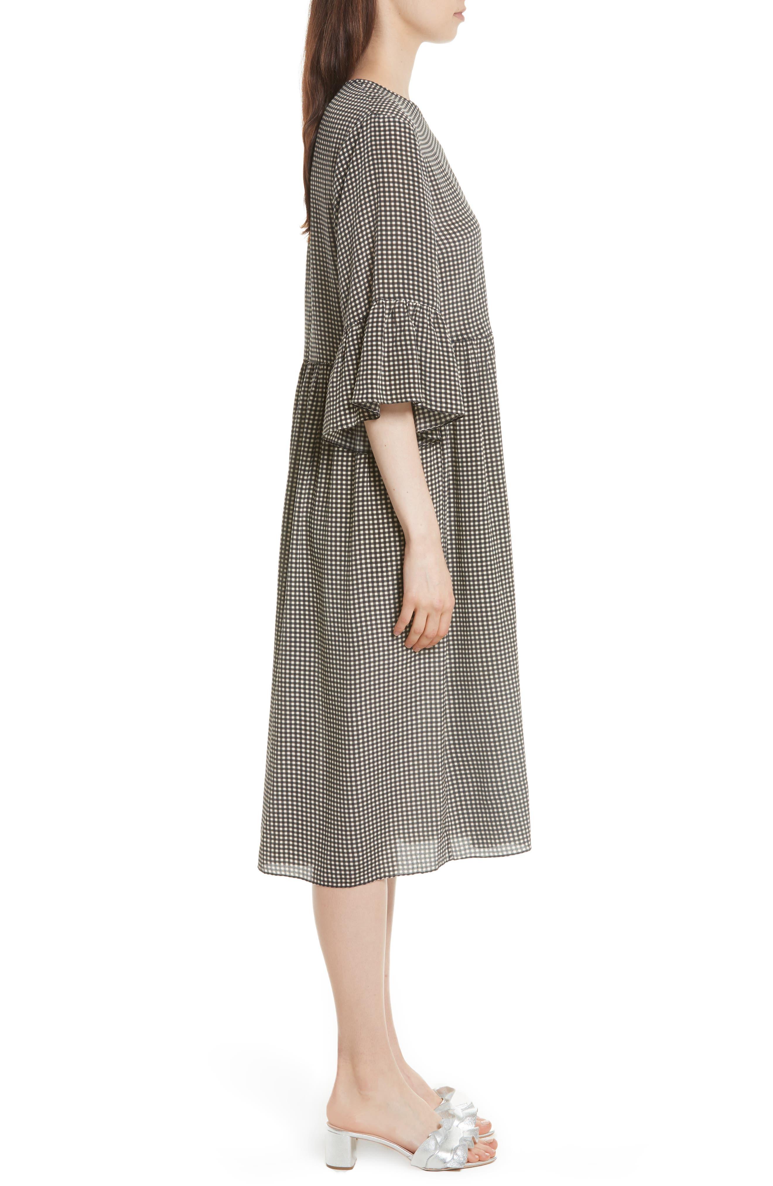The Sweetie Silk Midi Dress,                             Alternate thumbnail 3, color,                             020
