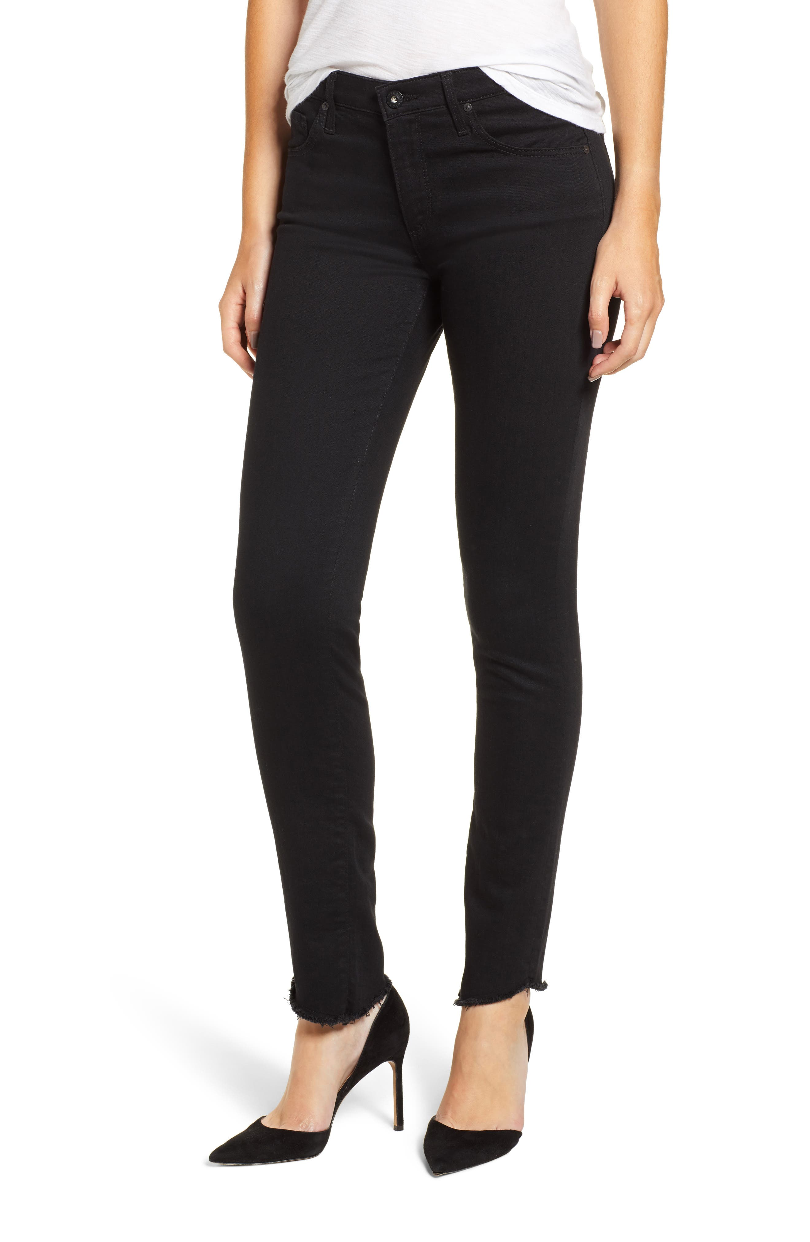 Sophia High Rise Ankle Stovepipe Jeans In 4 Years Fazed in Moonless