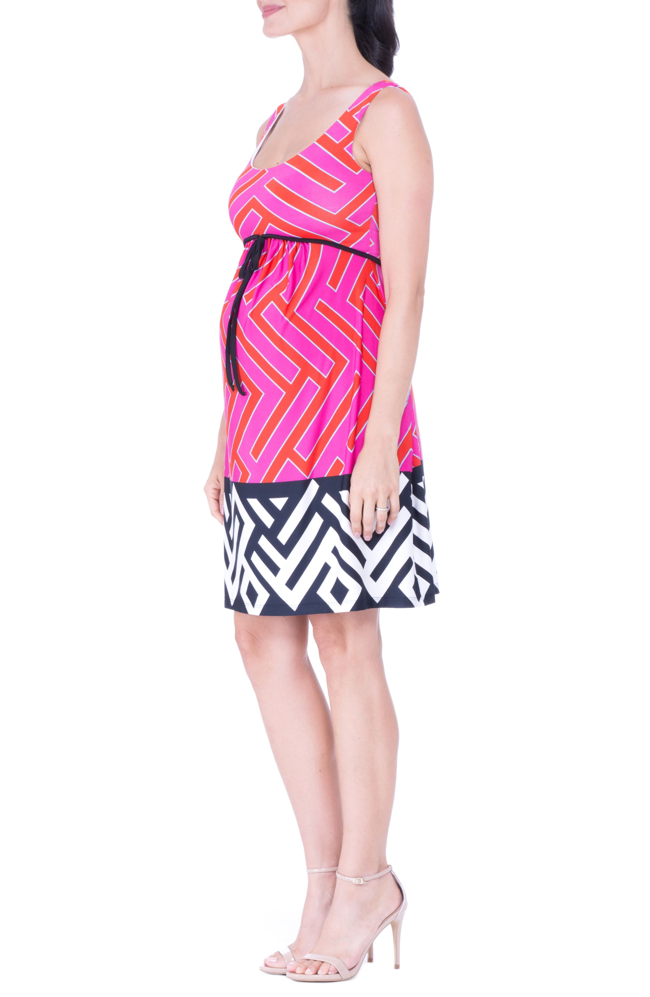 Maternity Tank Dress,                             Alternate thumbnail 4, color,                             FUCHSIA