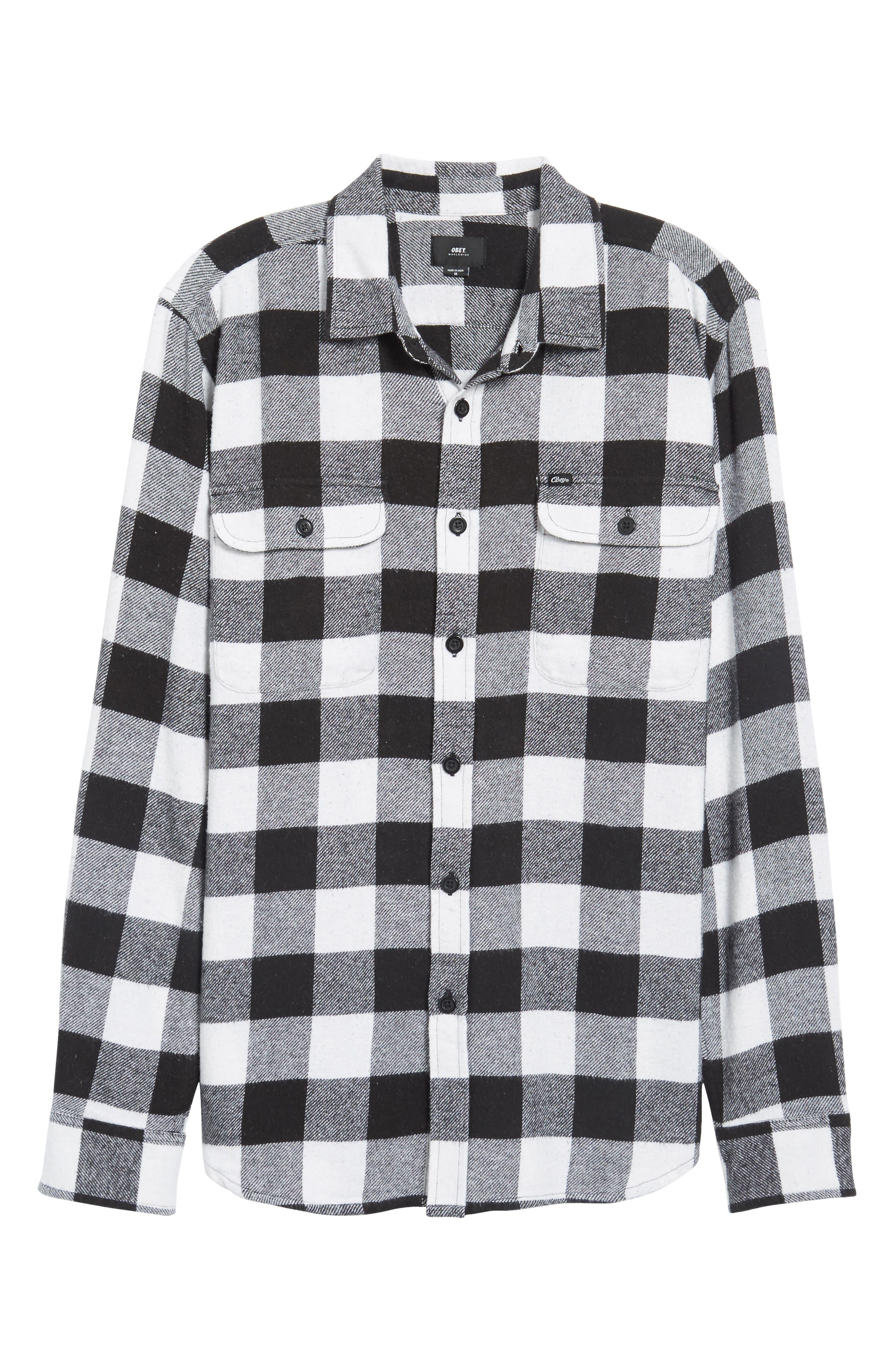 Trent Check Woven Shirt,                             Alternate thumbnail 6, color,                             002