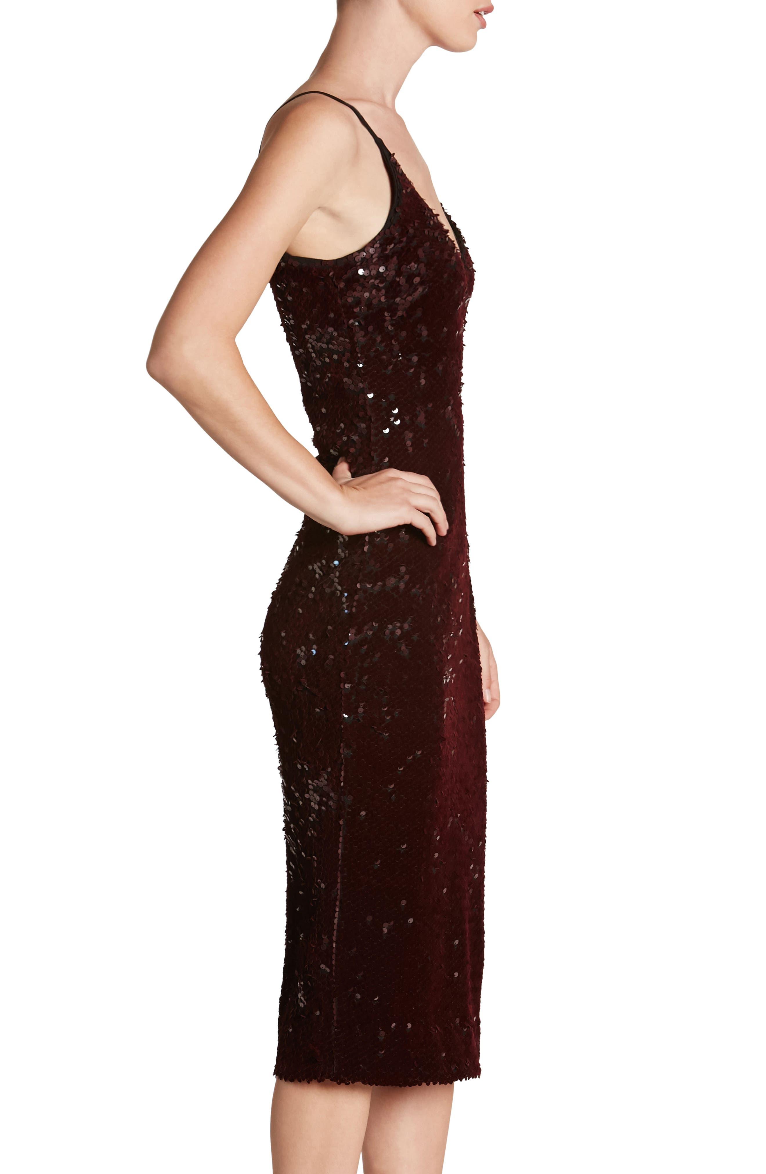Nina Sequin Velvet Body-Con Dress,                             Alternate thumbnail 9, color,