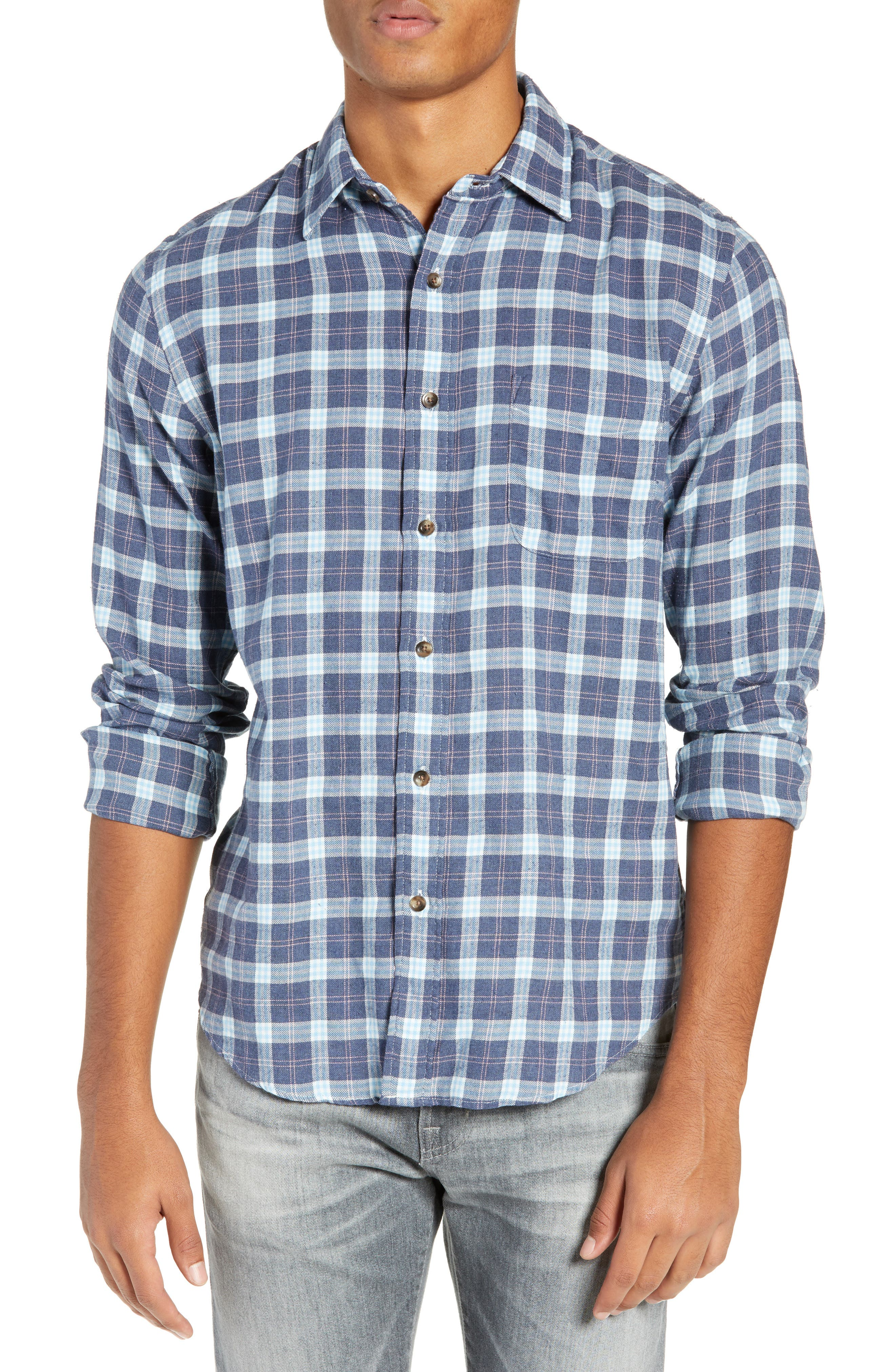 Faherty Brushed Alpine Regular Fit Flannel Shirt