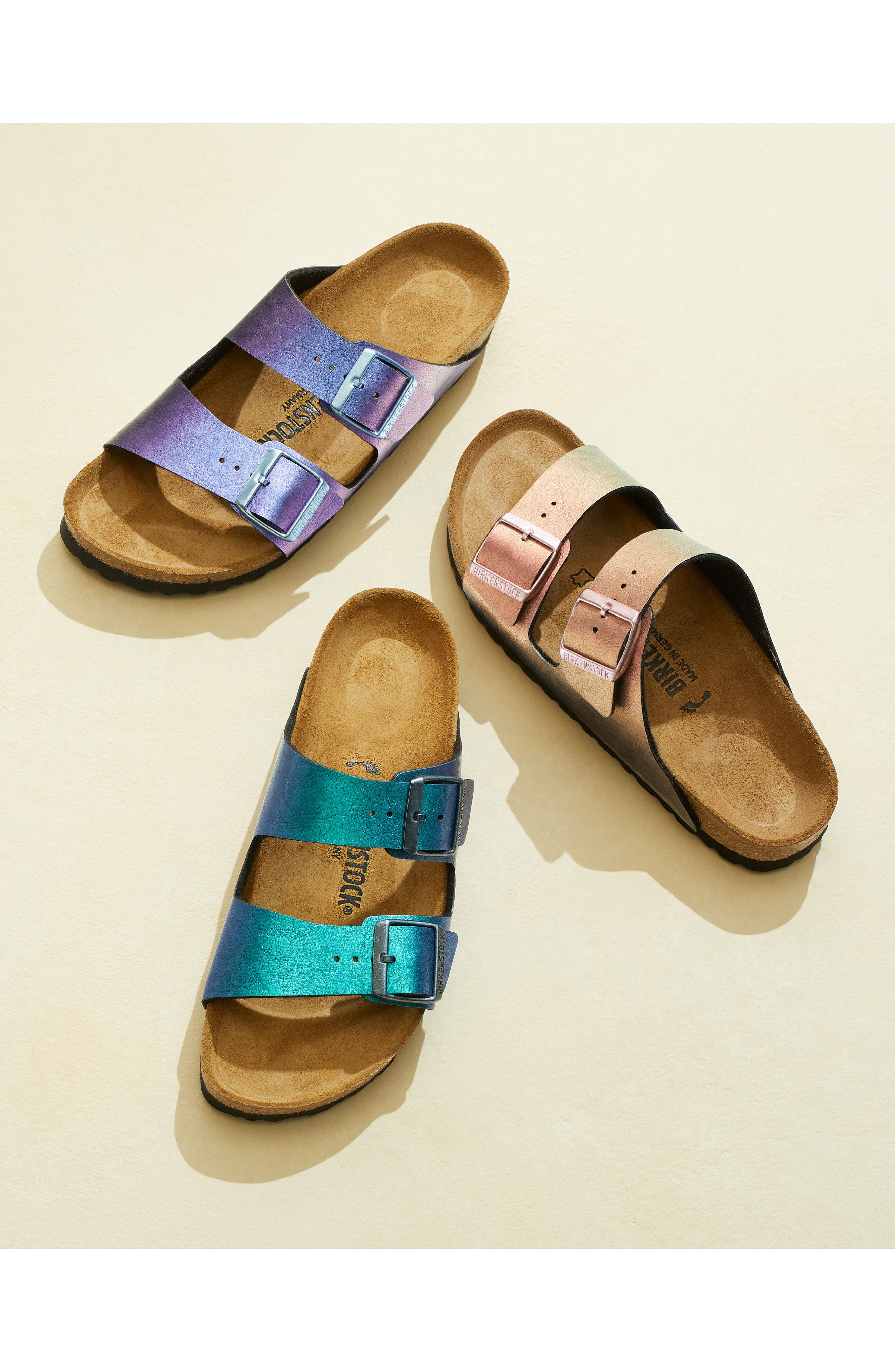 Arizona Graceful Birko-Flor<sup>™</sup> Sandal,                             Alternate thumbnail 7, color,                             VIOLET