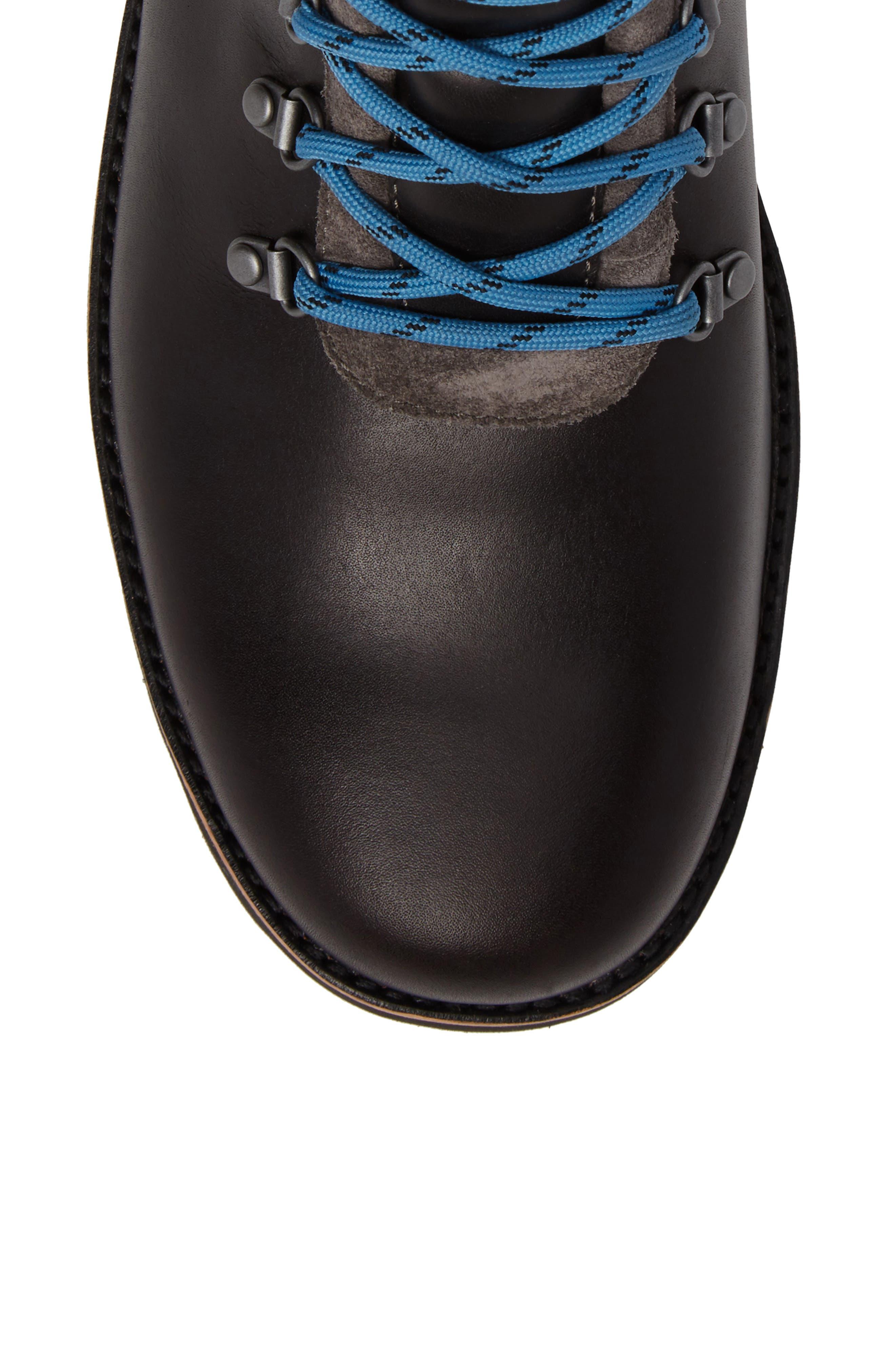 Halfstein Plain Toe Waterproof Boot,                             Alternate thumbnail 5, color,                             CHARCOAL