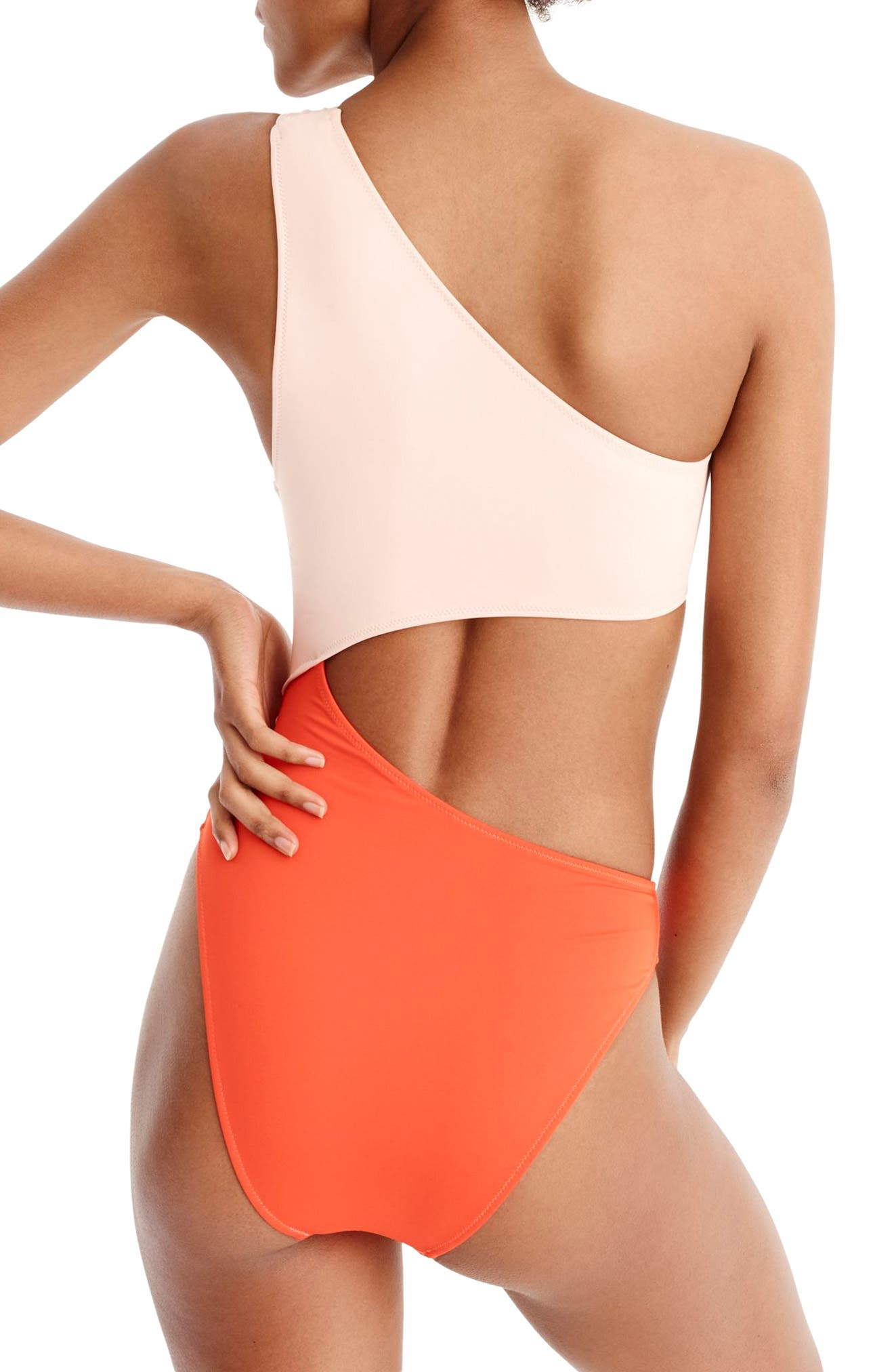 Playa Tilden Colorblock One-Piece Swimsuit,                             Alternate thumbnail 2, color,