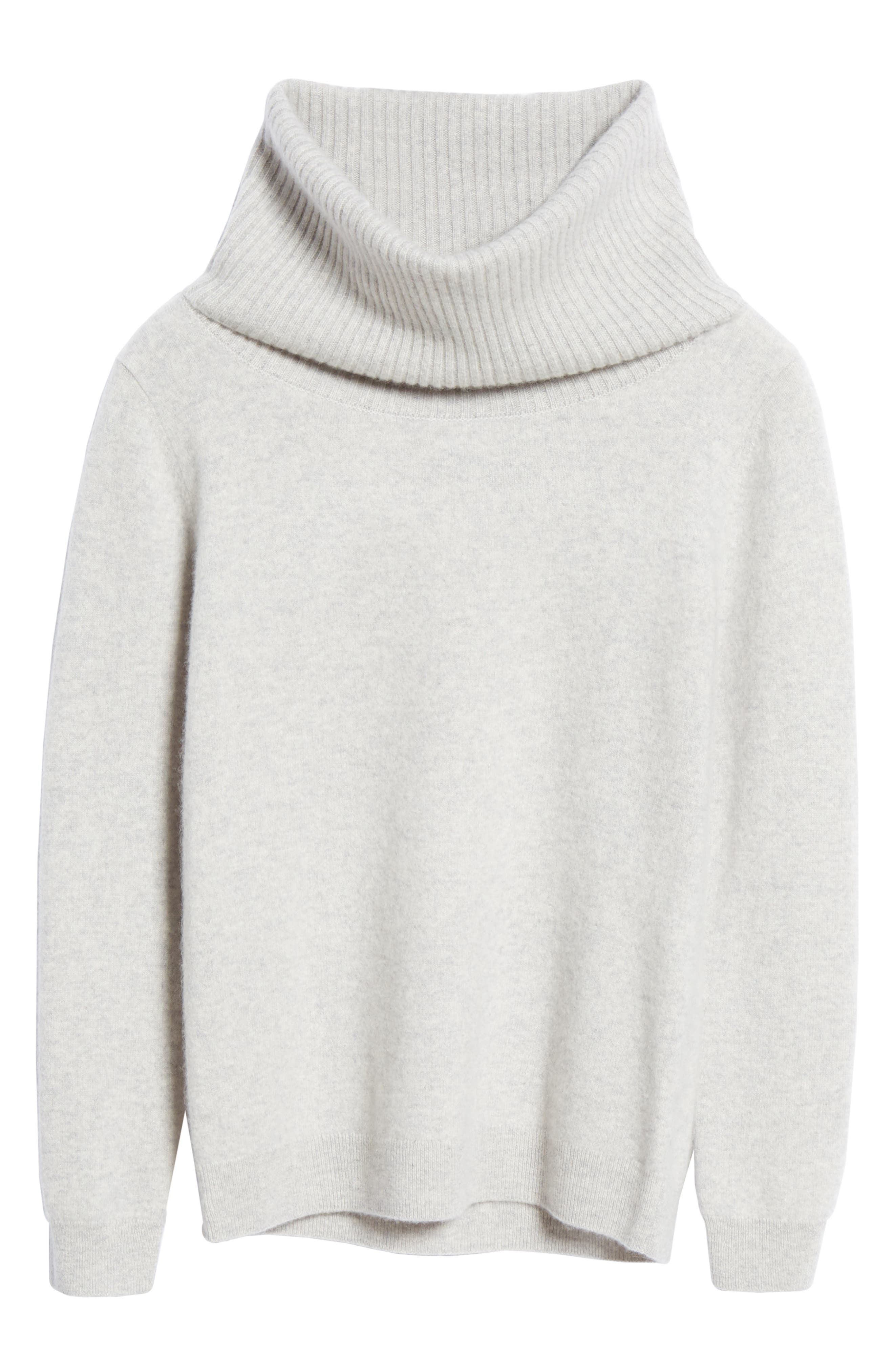 Boiled Cashmere Cowl Neck Sweater,                             Alternate thumbnail 6, color,                             GREY CLAY HEATHER