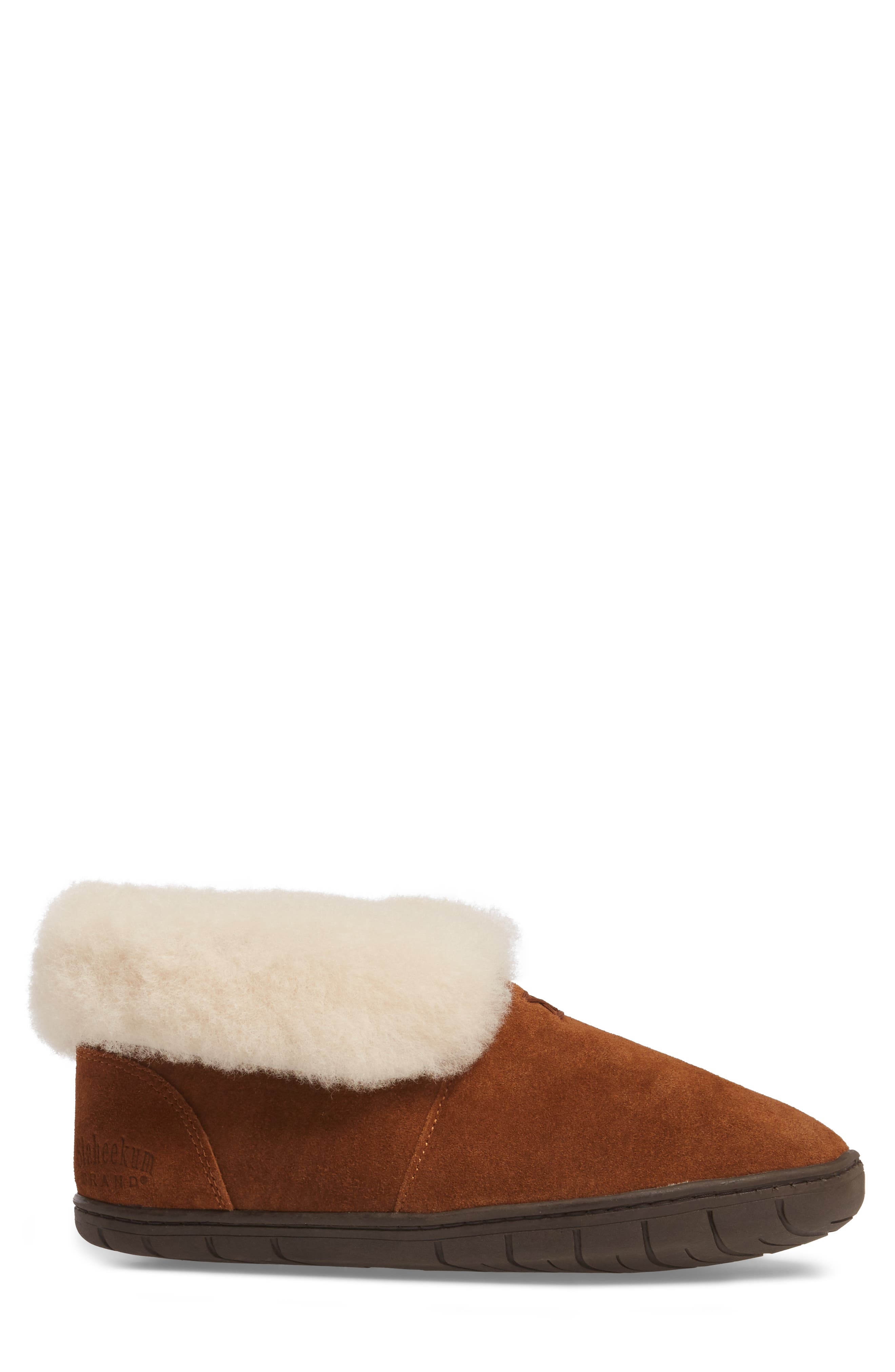 Tundra Slipper Bootie with Genuine Shearling Lining,                             Alternate thumbnail 3, color,                             212