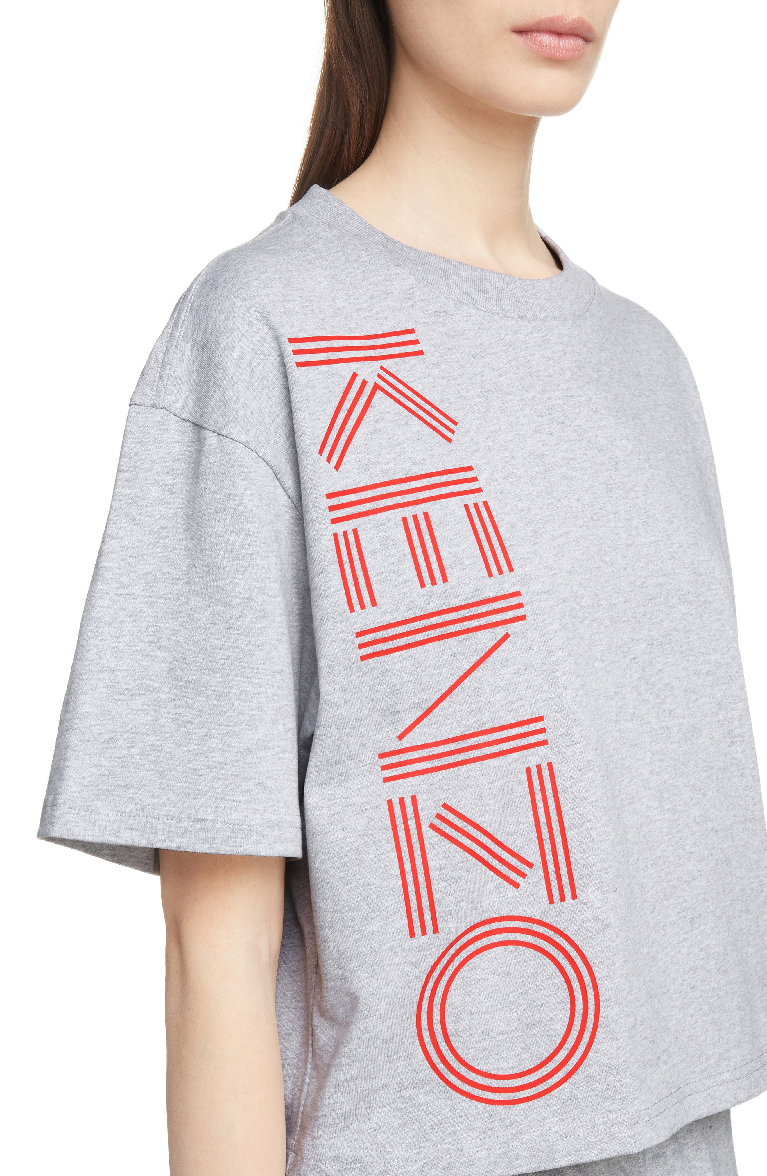 Sport Boxy Tee,                             Alternate thumbnail 4, color,                             PALE GREY