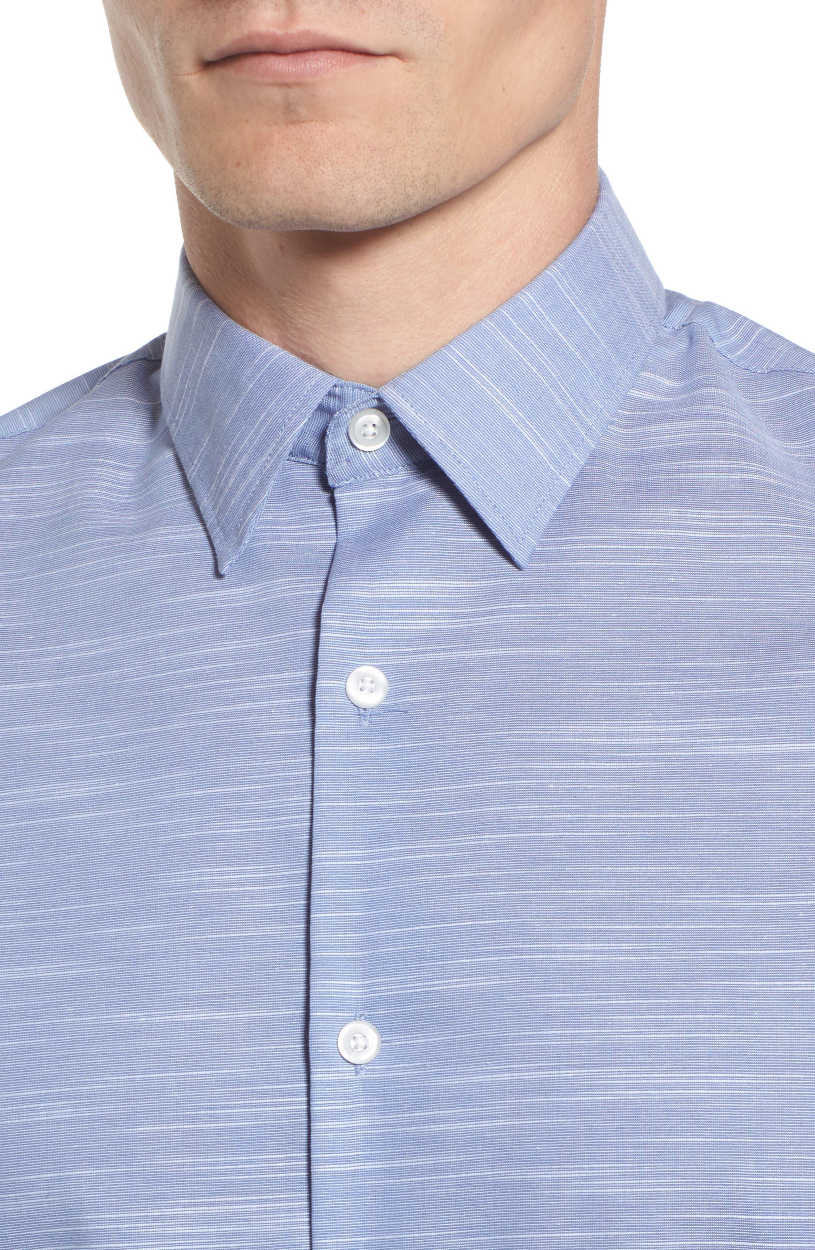 Calilbrate Slim Fit Slub Woven Shirt,                             Alternate thumbnail 11, color,