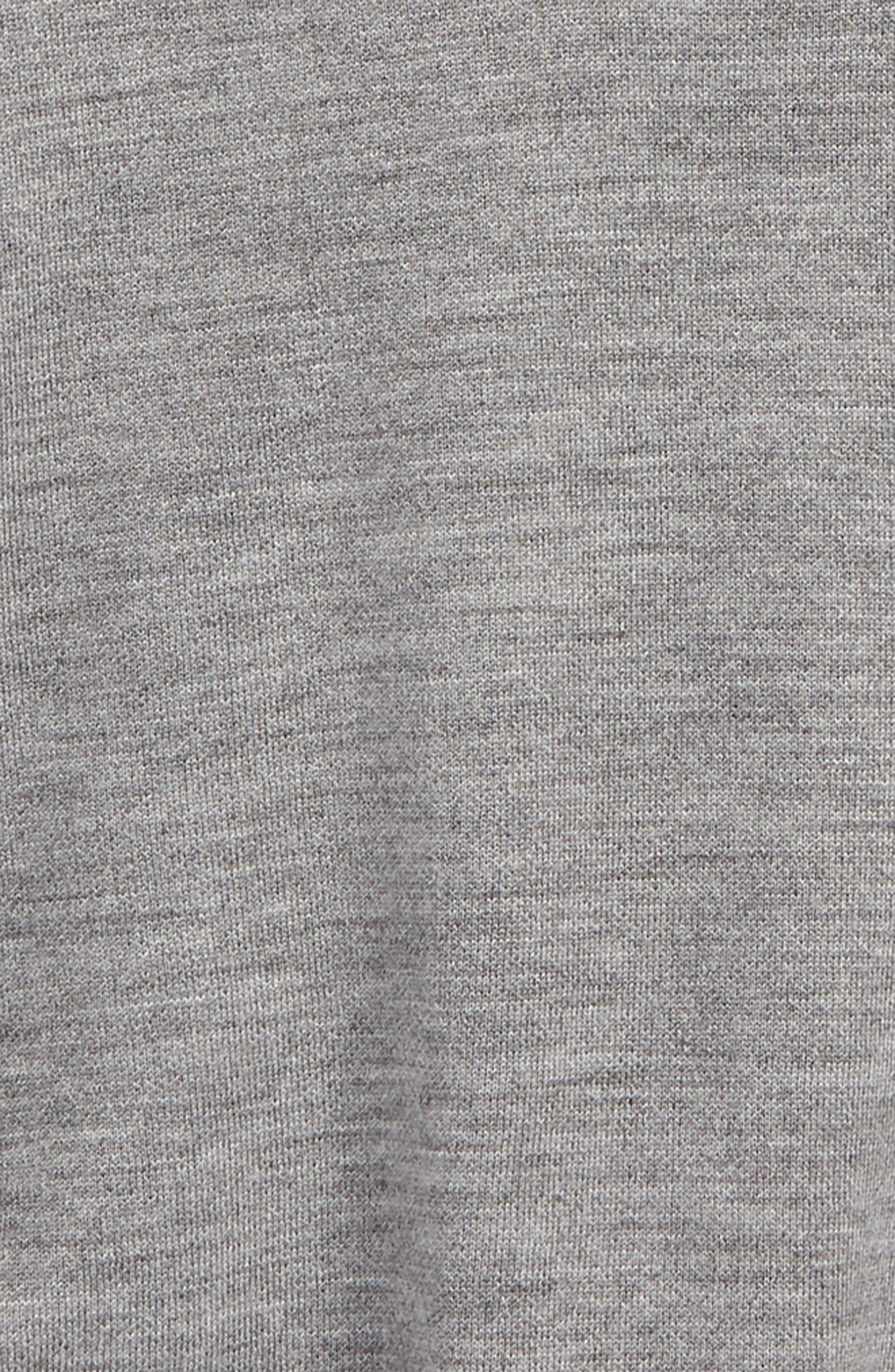 Beatrix Reversible Merino Wool Blend Poncho,                             Alternate thumbnail 2, color,                             GREY MELANGE