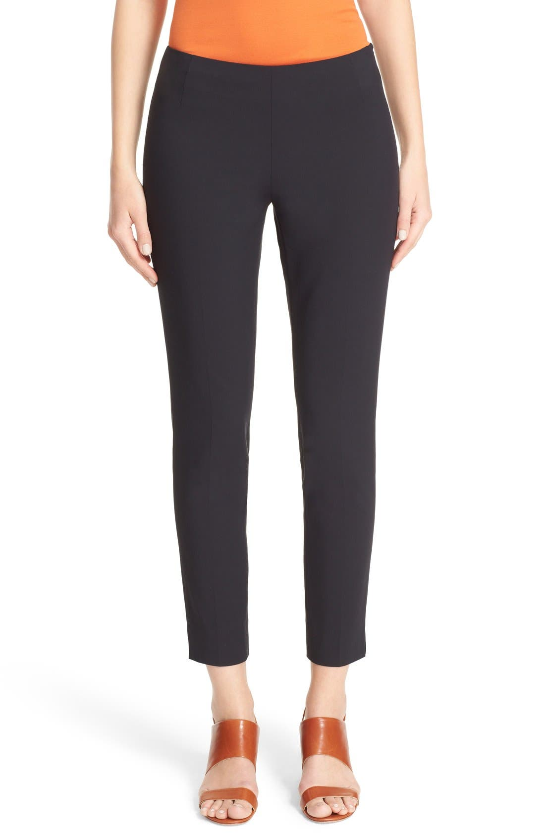 'Stanton' Slim Leg Ankle Pants,                             Main thumbnail 1, color,                             BLACK