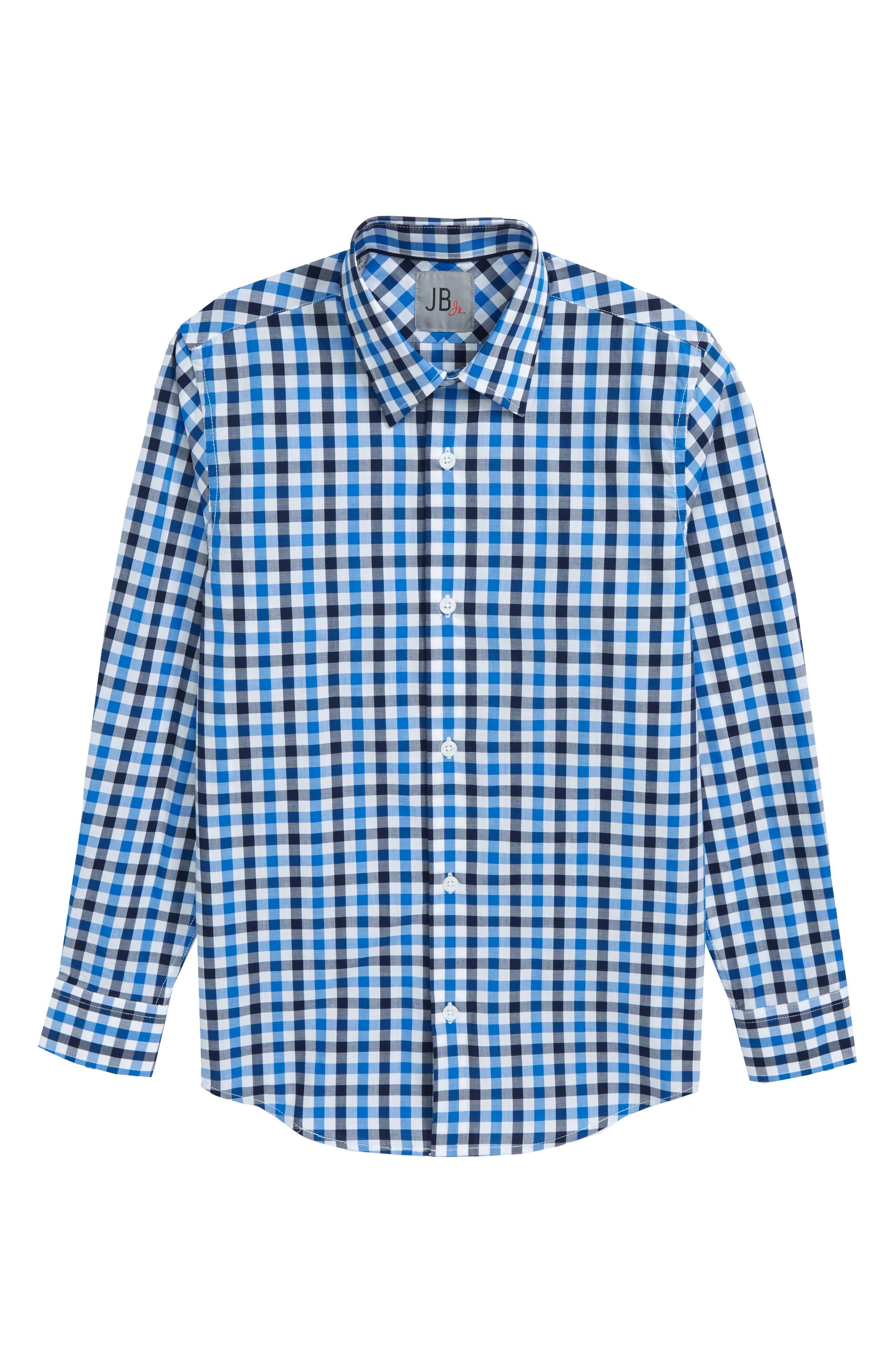JB JR,                             Check Dress Shirt,                             Main thumbnail 1, color,                             422