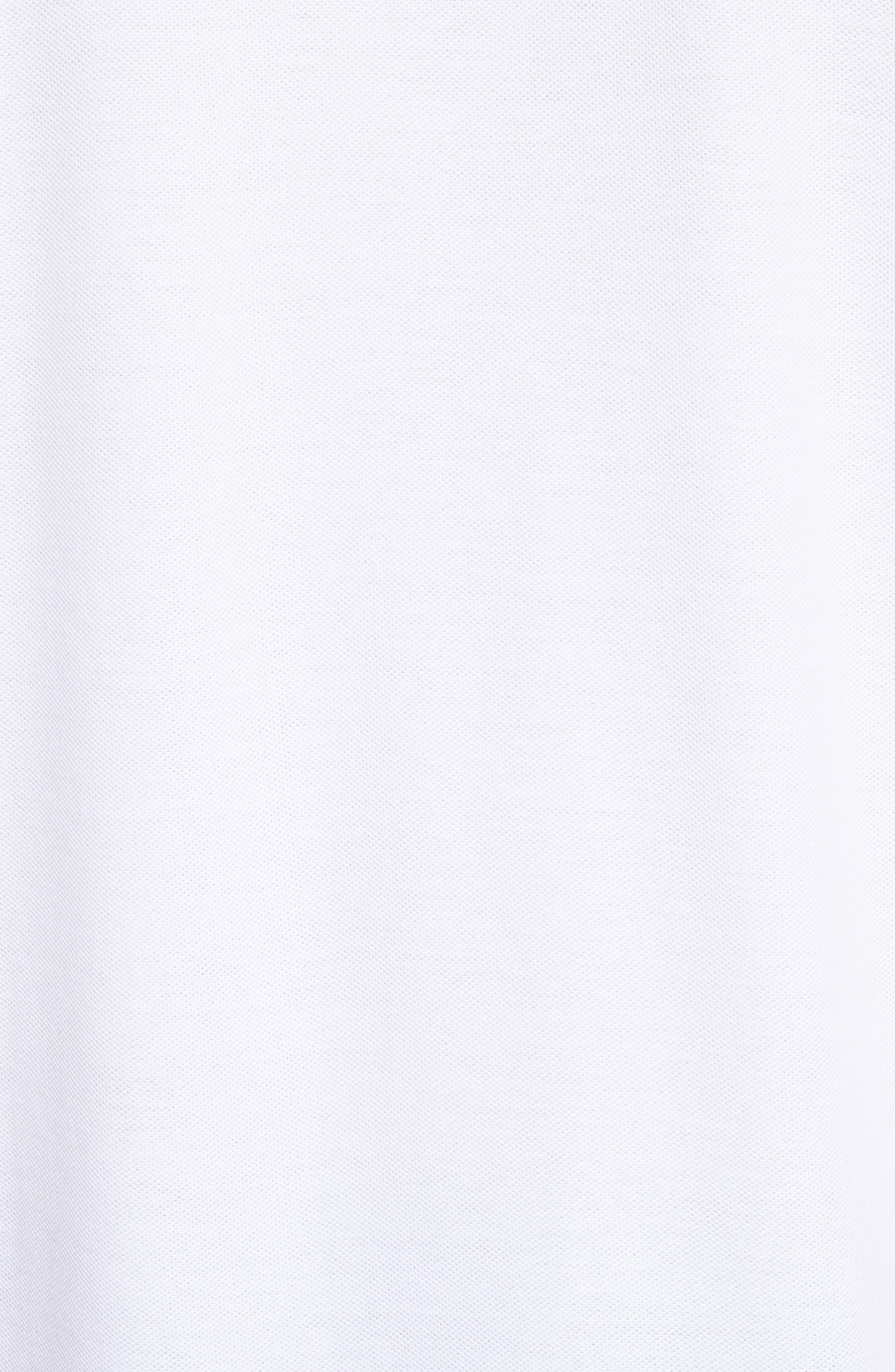 Stitched Collar Cotton Piqué Polo,                             Alternate thumbnail 5, color,                             100