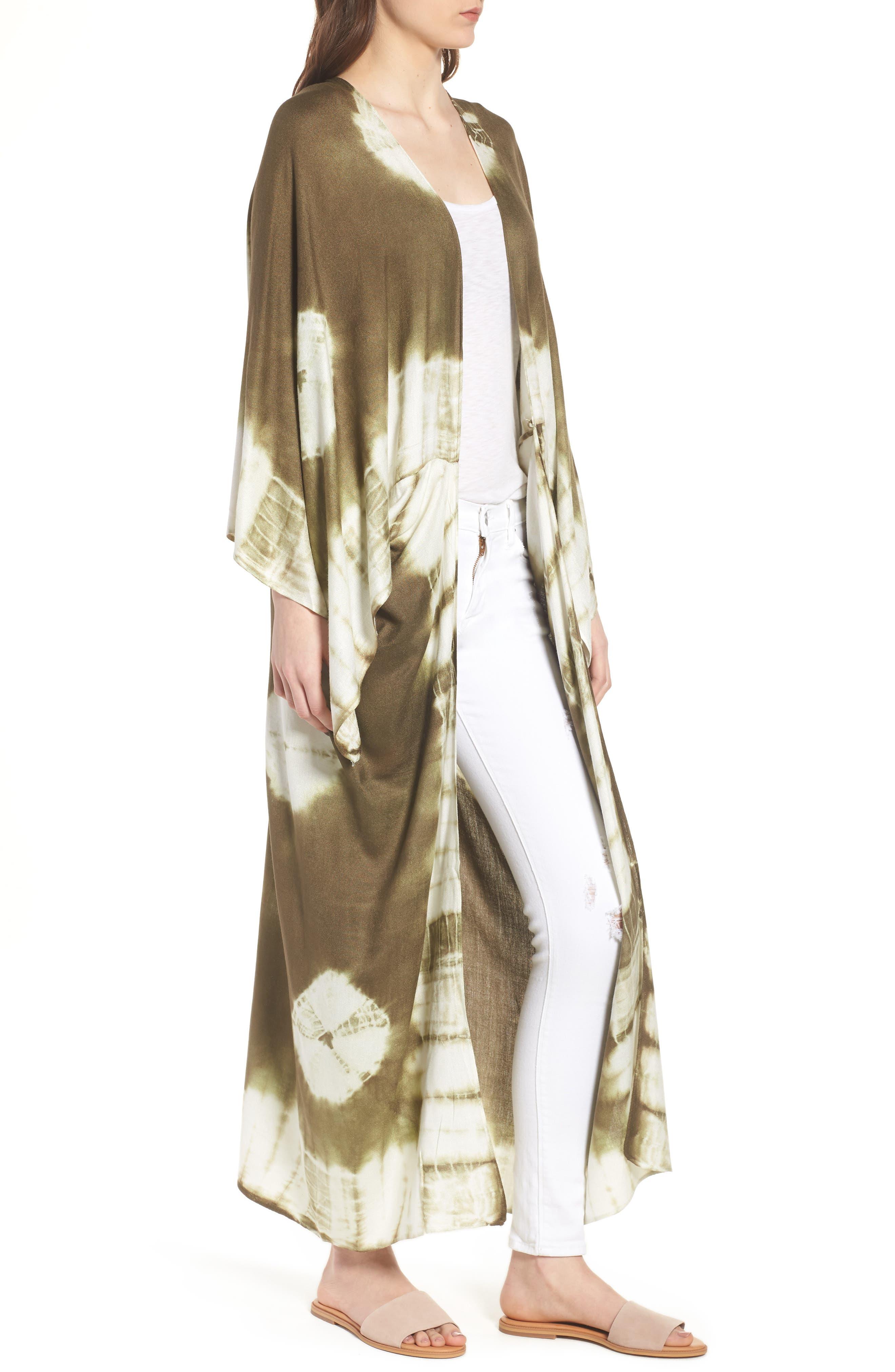 Spellbound Tie Dye Kimono Duster,                             Alternate thumbnail 8, color,
