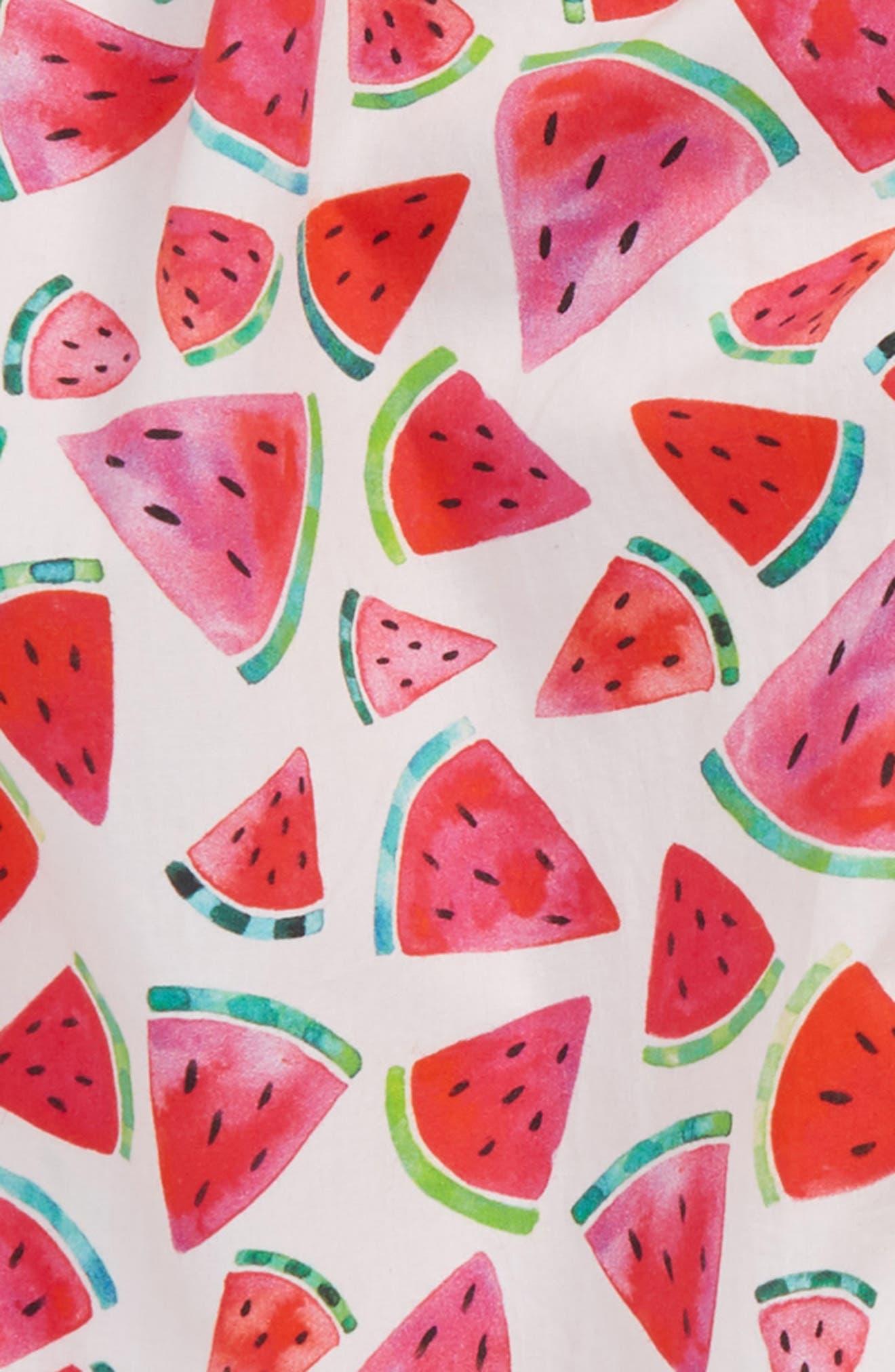 Watermelon Print Dress,                             Alternate thumbnail 2, color,                             100
