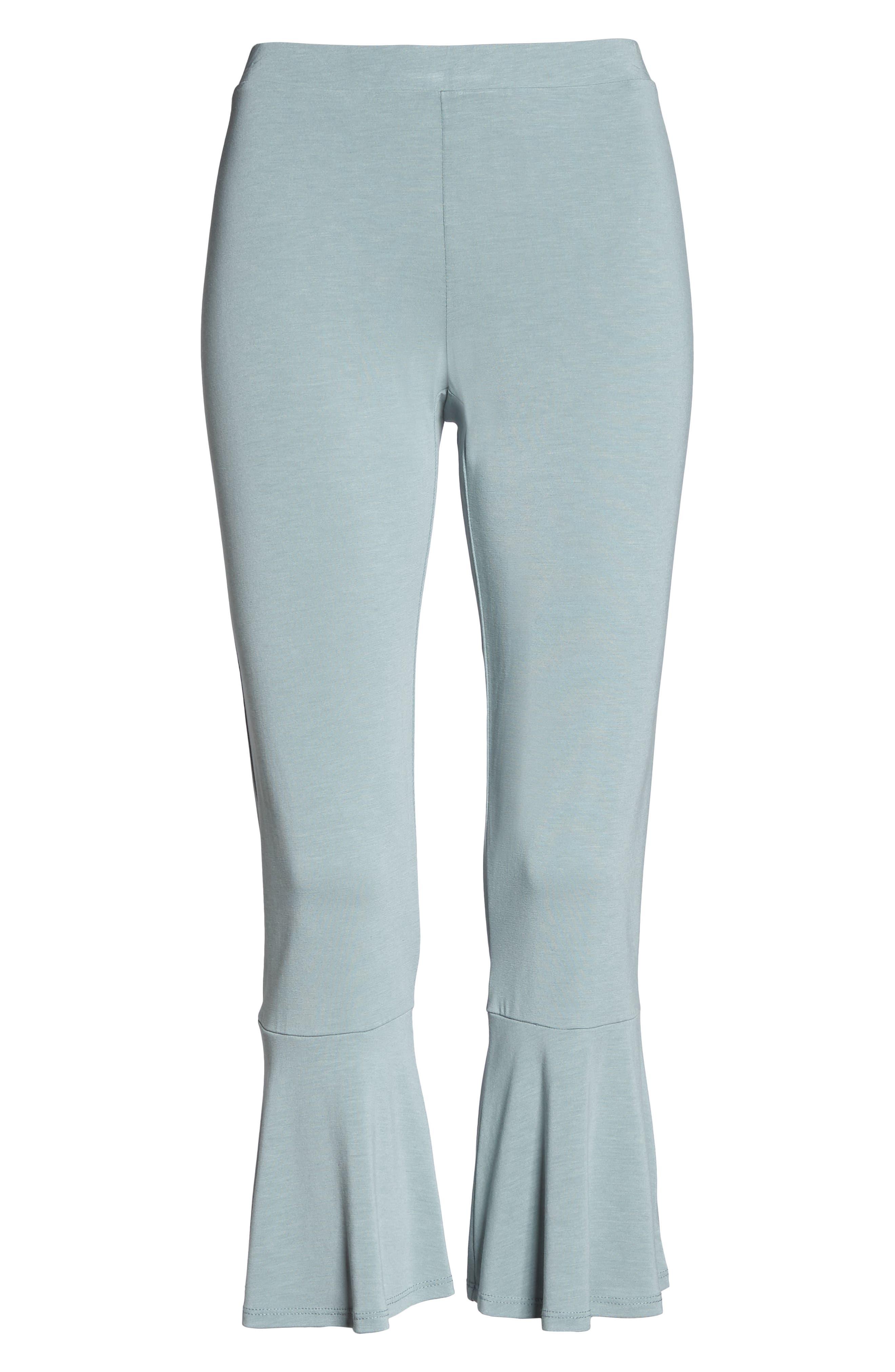 Aden Ruffle Hem Lounge Pants,                             Alternate thumbnail 6, color,                             MINERAL SAGE