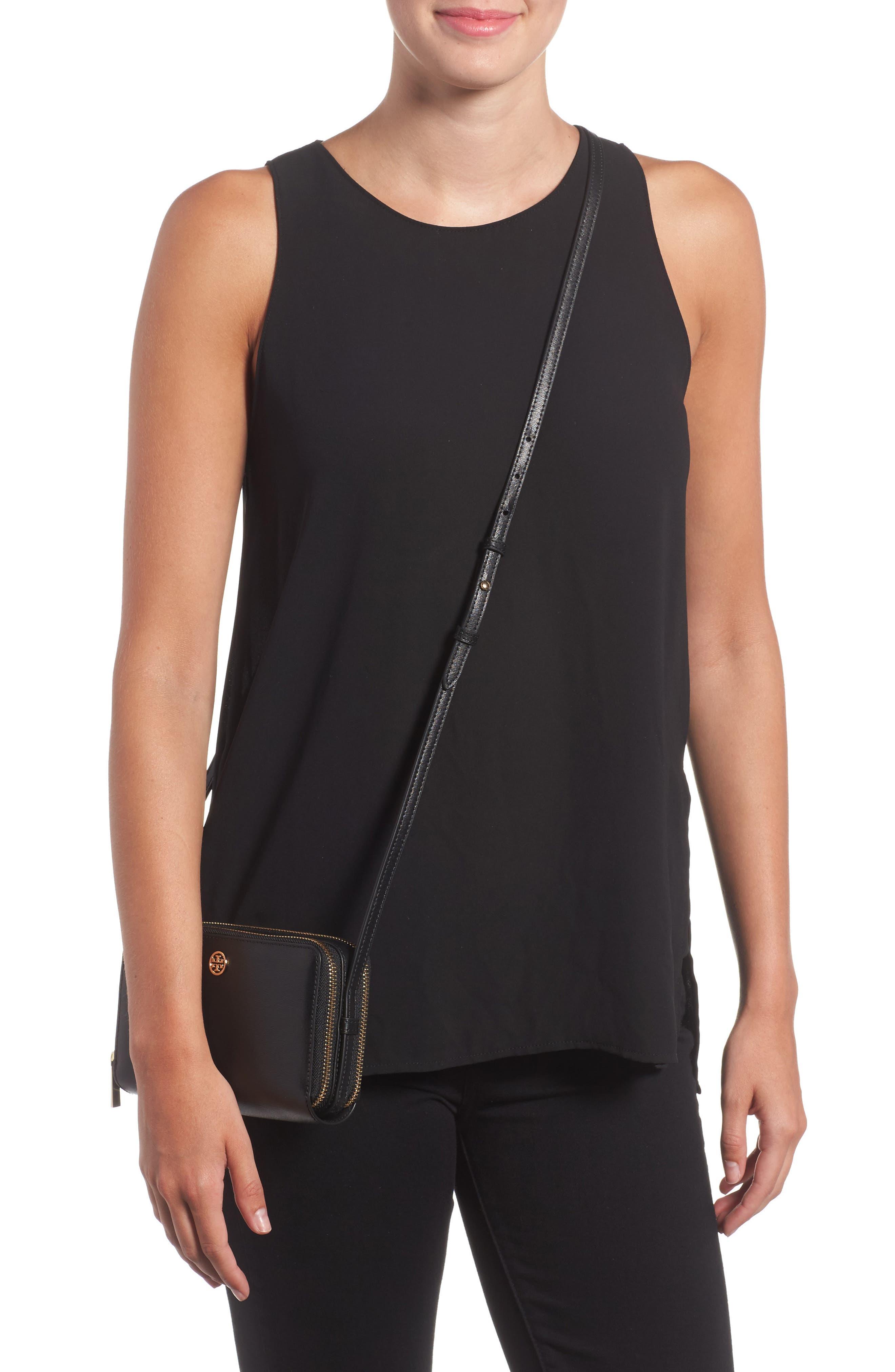 Mini Parker Leather Crossbody Bag,                             Alternate thumbnail 2, color,                             001