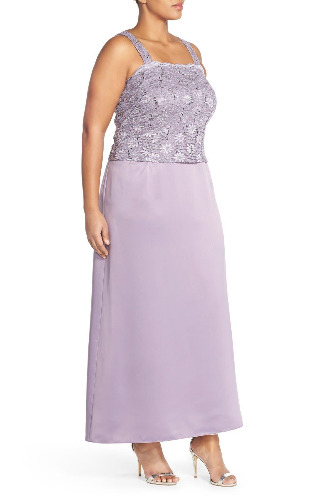 Alex Evening A-Line Gown & Lace Jacket,                             Alternate thumbnail 6, color,
