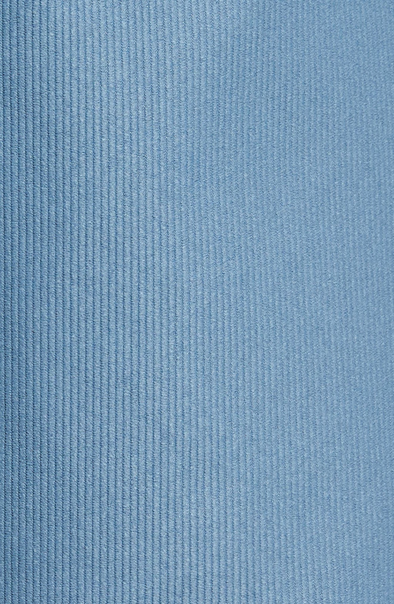 Outsider X Surf Corduroy Shorts,                             Alternate thumbnail 5, color,                             POWDER BLUE